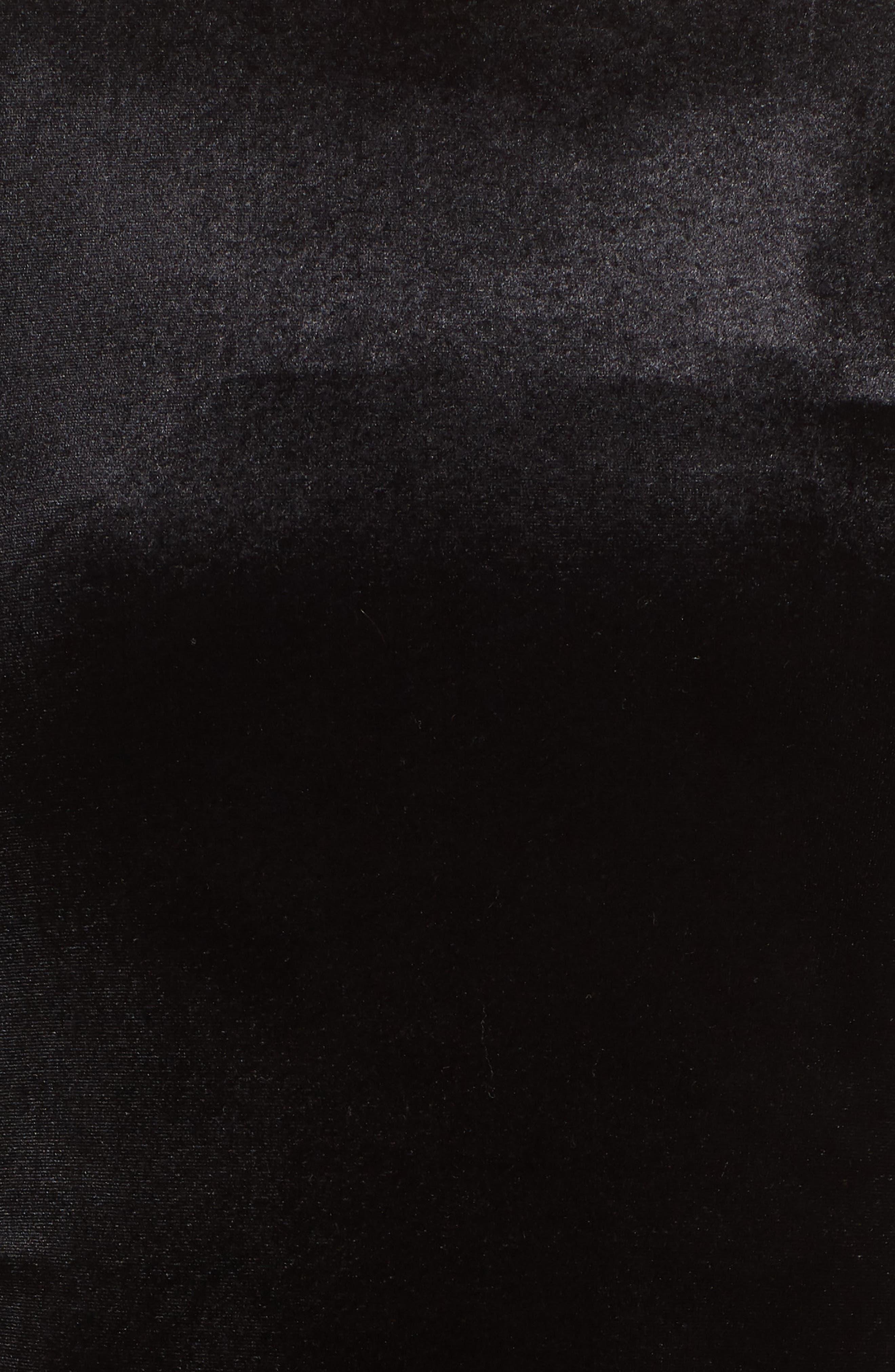 Zella Aurore Velvet Jersey Sheath Dress,                             Alternate thumbnail 6, color,                             BLACK GOLD