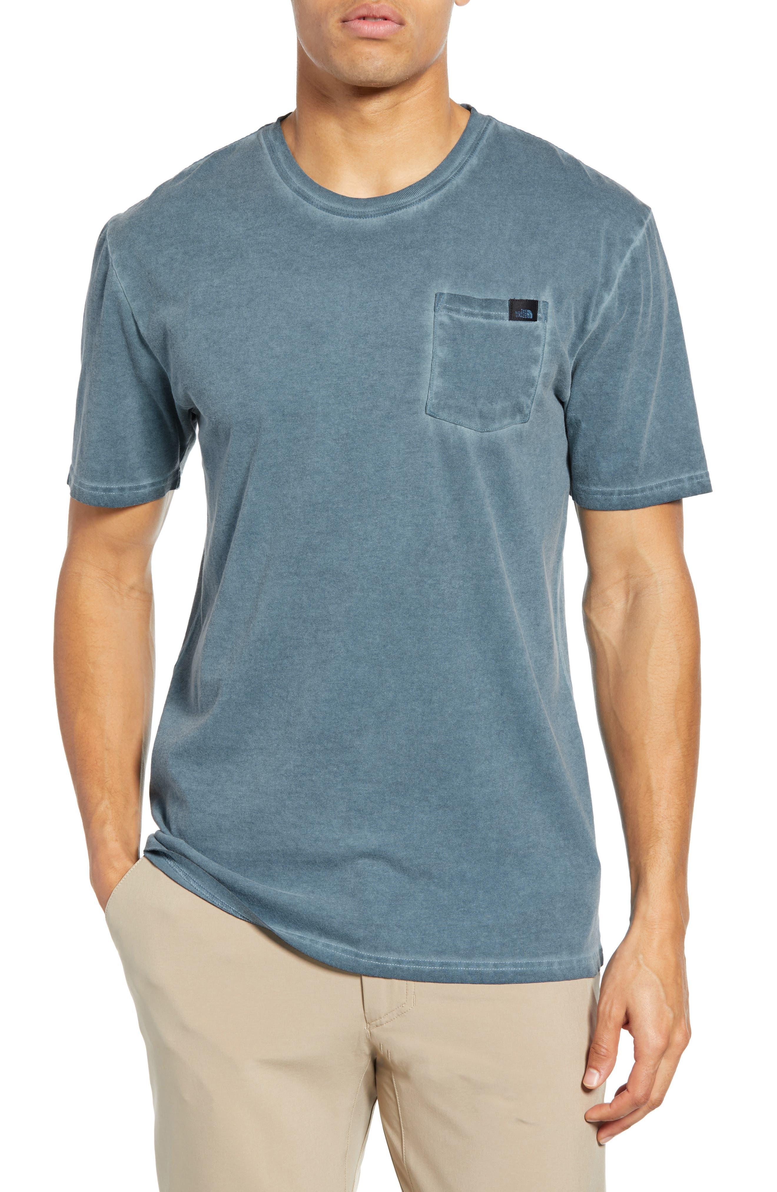 The North Face Shadow Wash Pocket T-Shirt, Blue