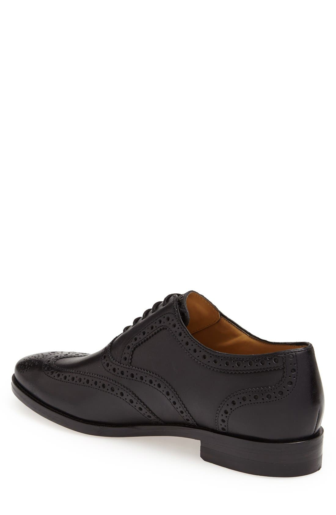 'Cambridge' Wingtip,                             Alternate thumbnail 2, color,                             BLACK