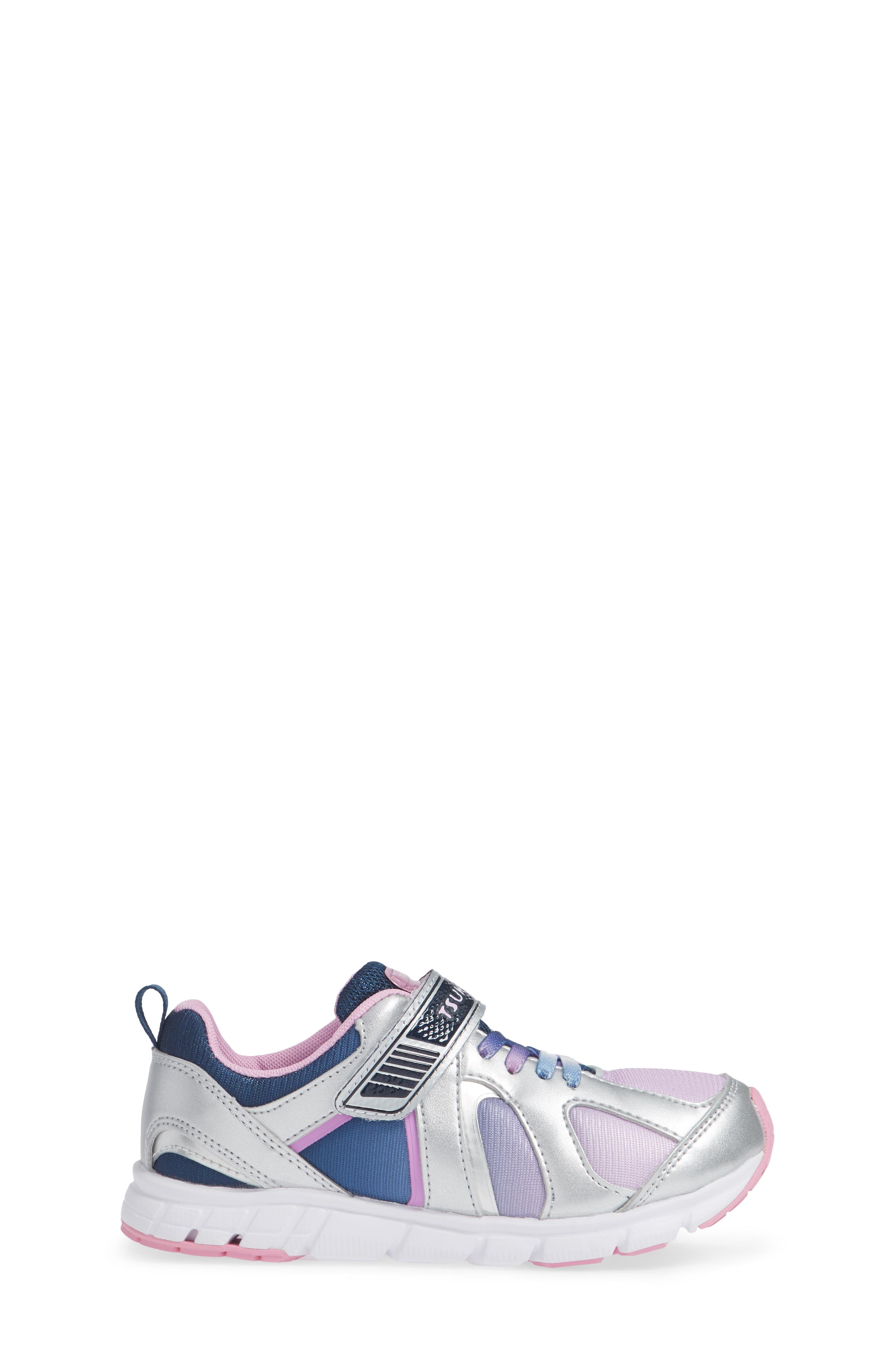 Rainbow Washable Sneaker,                             Alternate thumbnail 3, color,                             SILVER/ NAVY