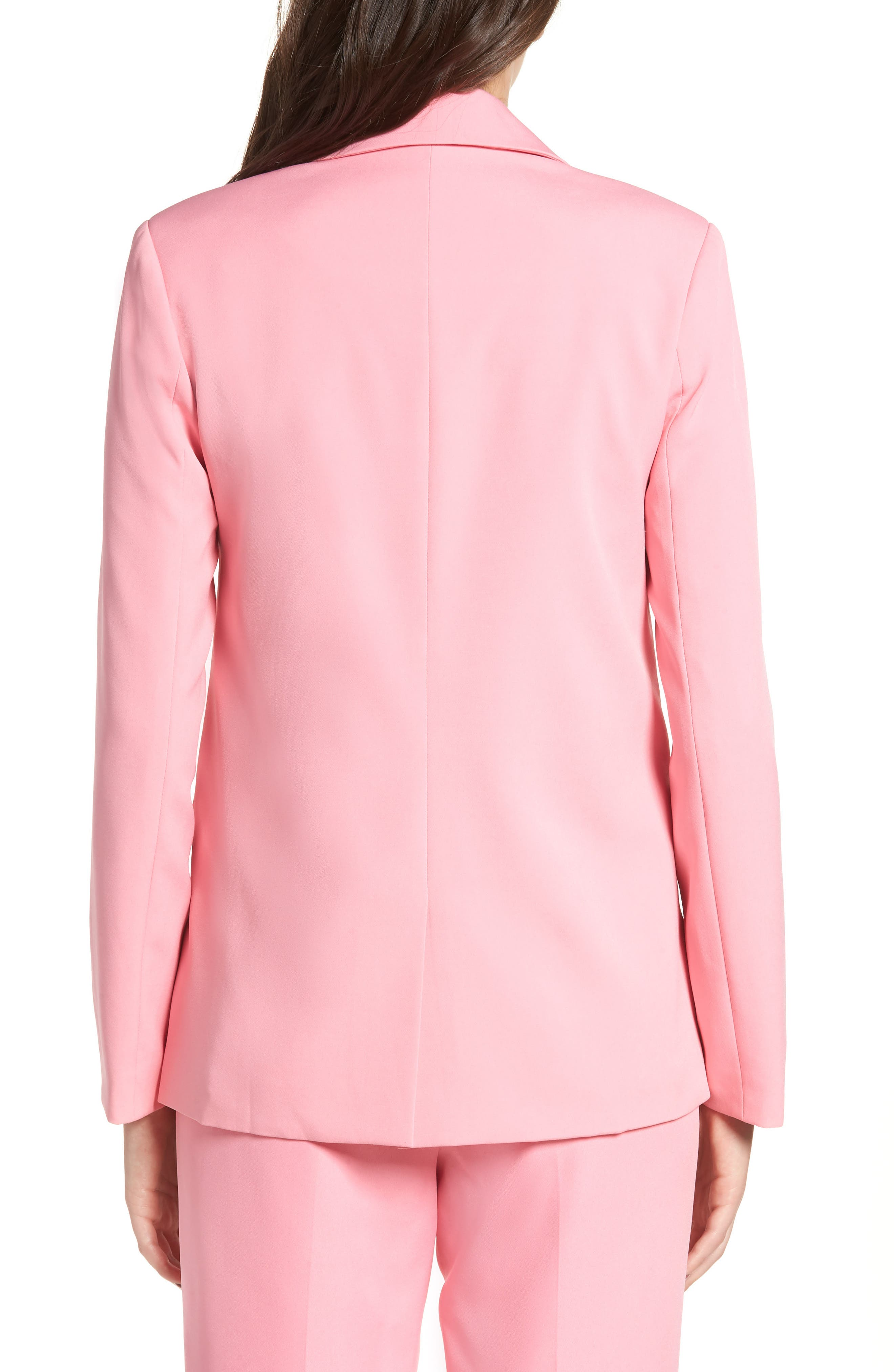 Peaked Lapel Jacket,                             Alternate thumbnail 2, color,                             CANDY PINK