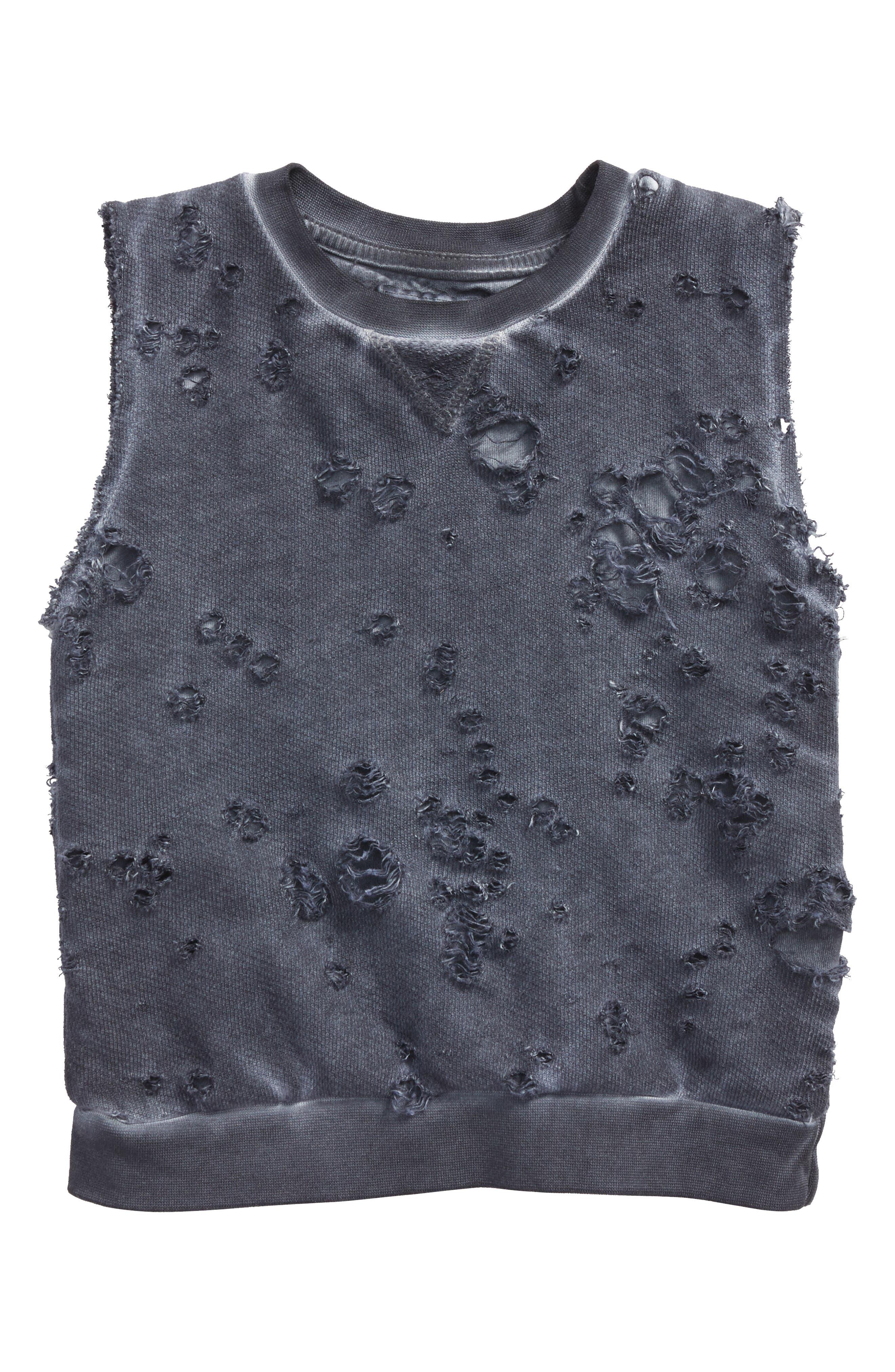 Distressed Mineral Wash Sweatshirt,                             Main thumbnail 1, color,                             030