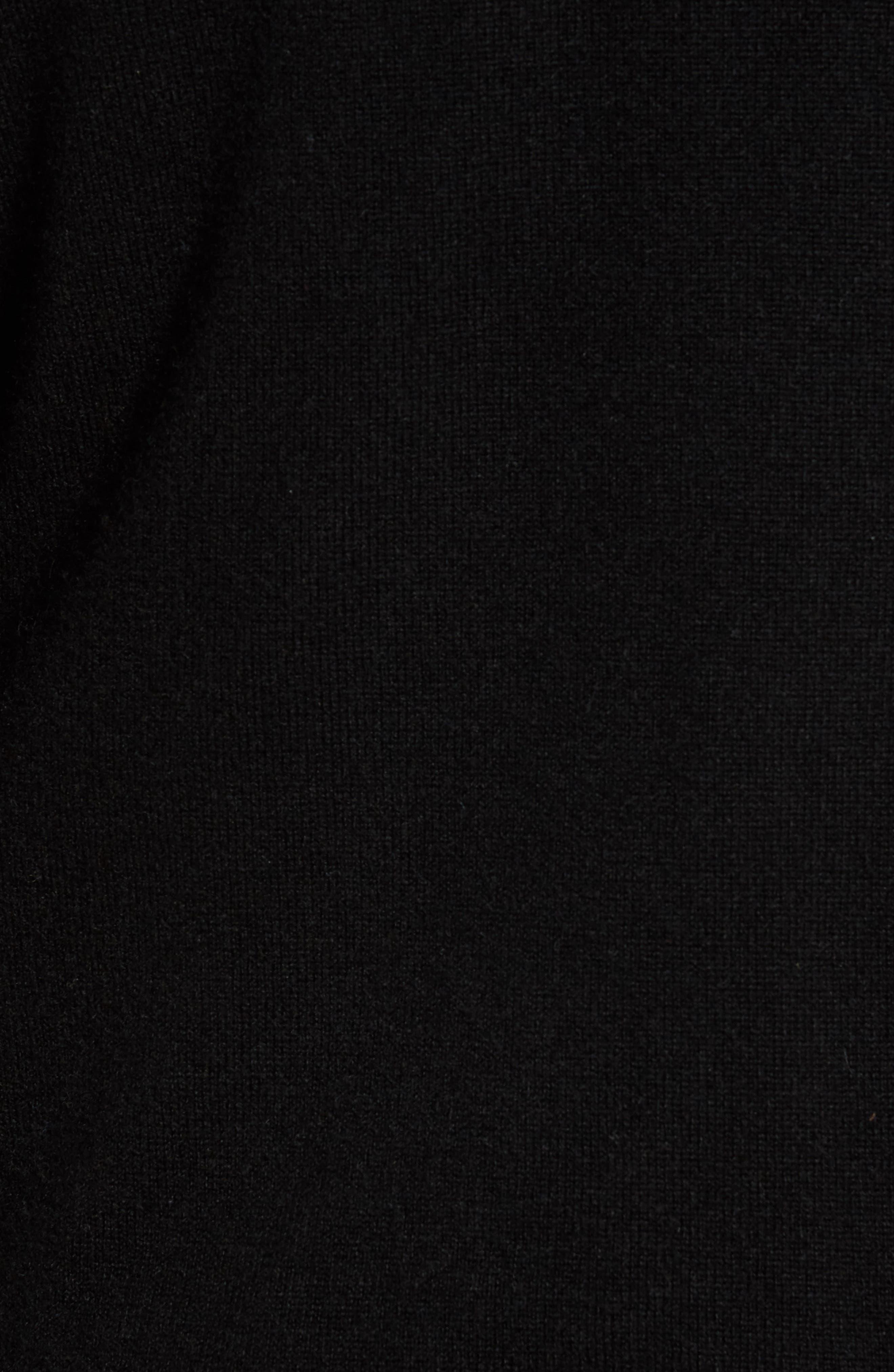 V-Neck Cashmere Sweater,                             Alternate thumbnail 5, color,                             001