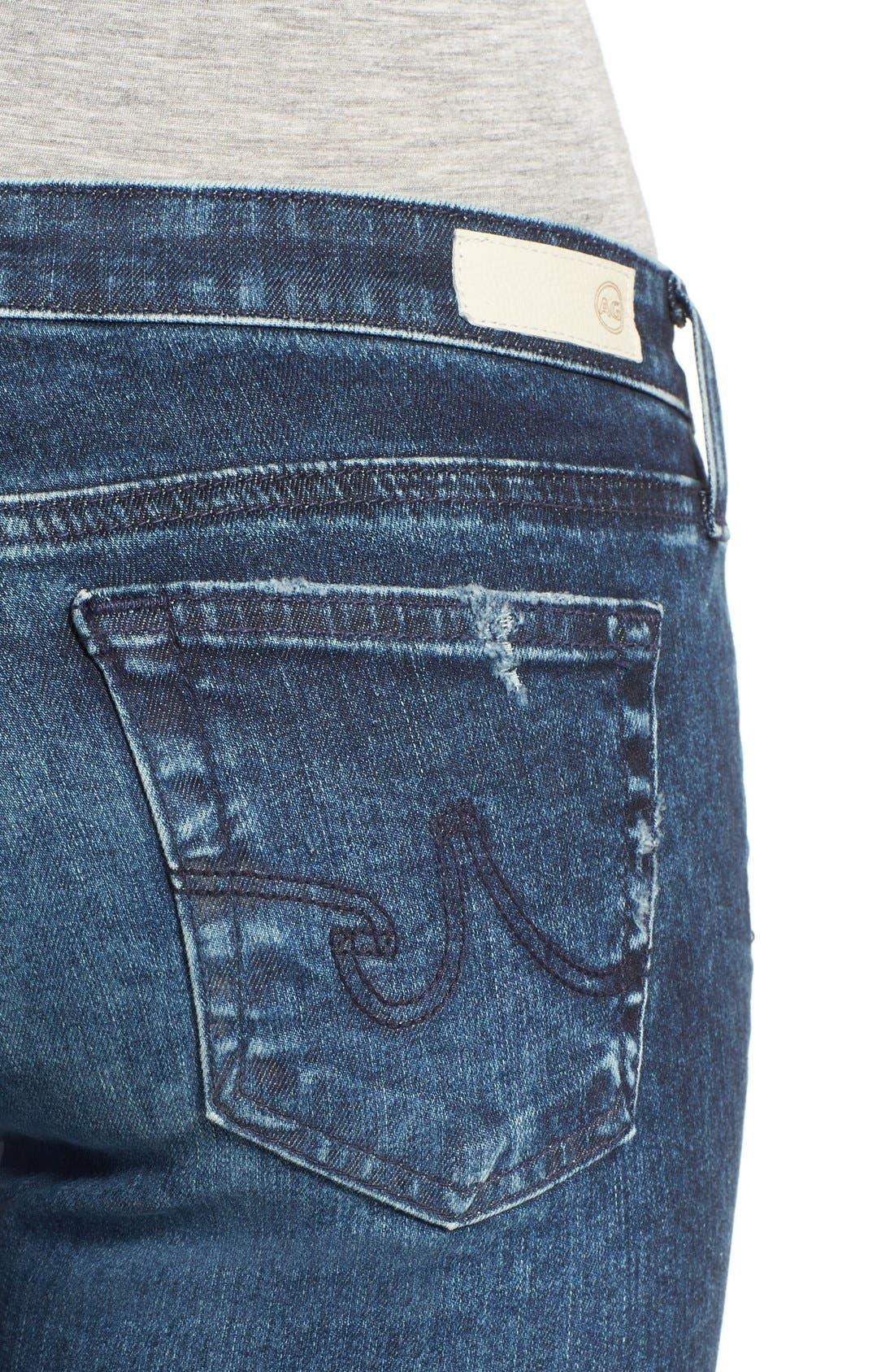 'The Legging' Ankle Super Skinny Jeans,                             Alternate thumbnail 4, color,                             407