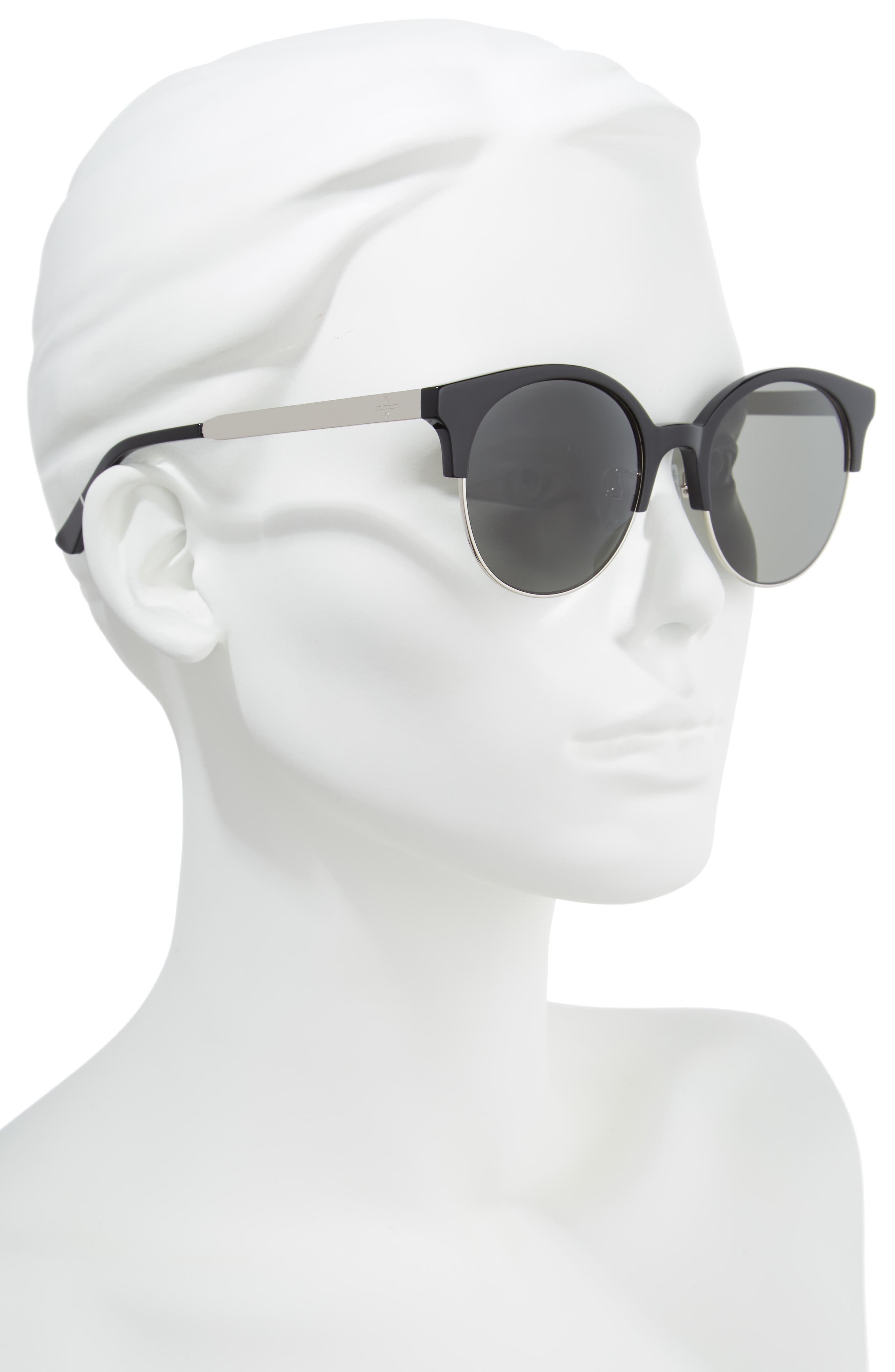 BLANC & ECLARE Venice Round Sunglasses,                             Alternate thumbnail 2, color,                             001