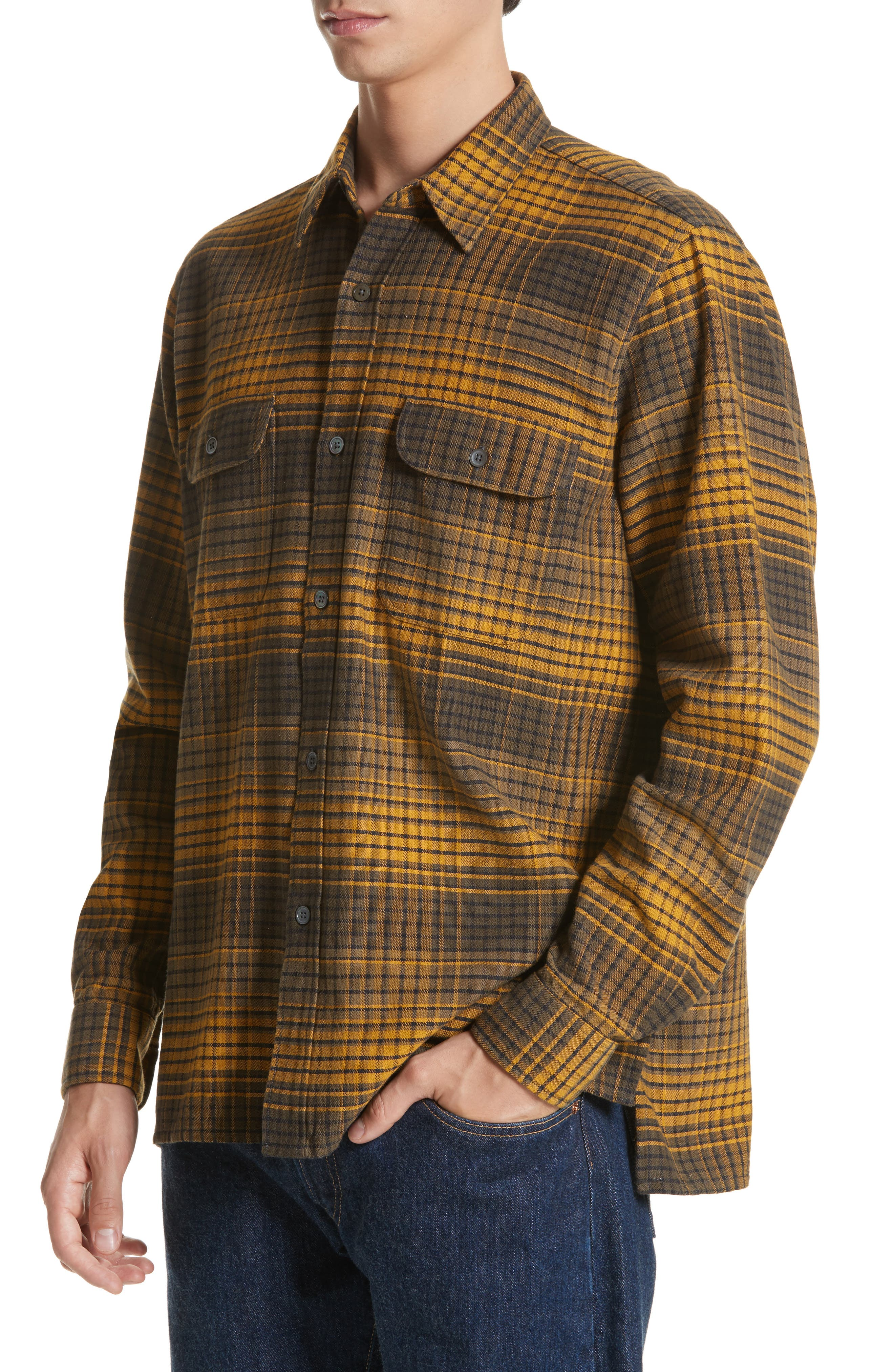 Country Plaid Flannel Shirt,                             Alternate thumbnail 4, color,                             710