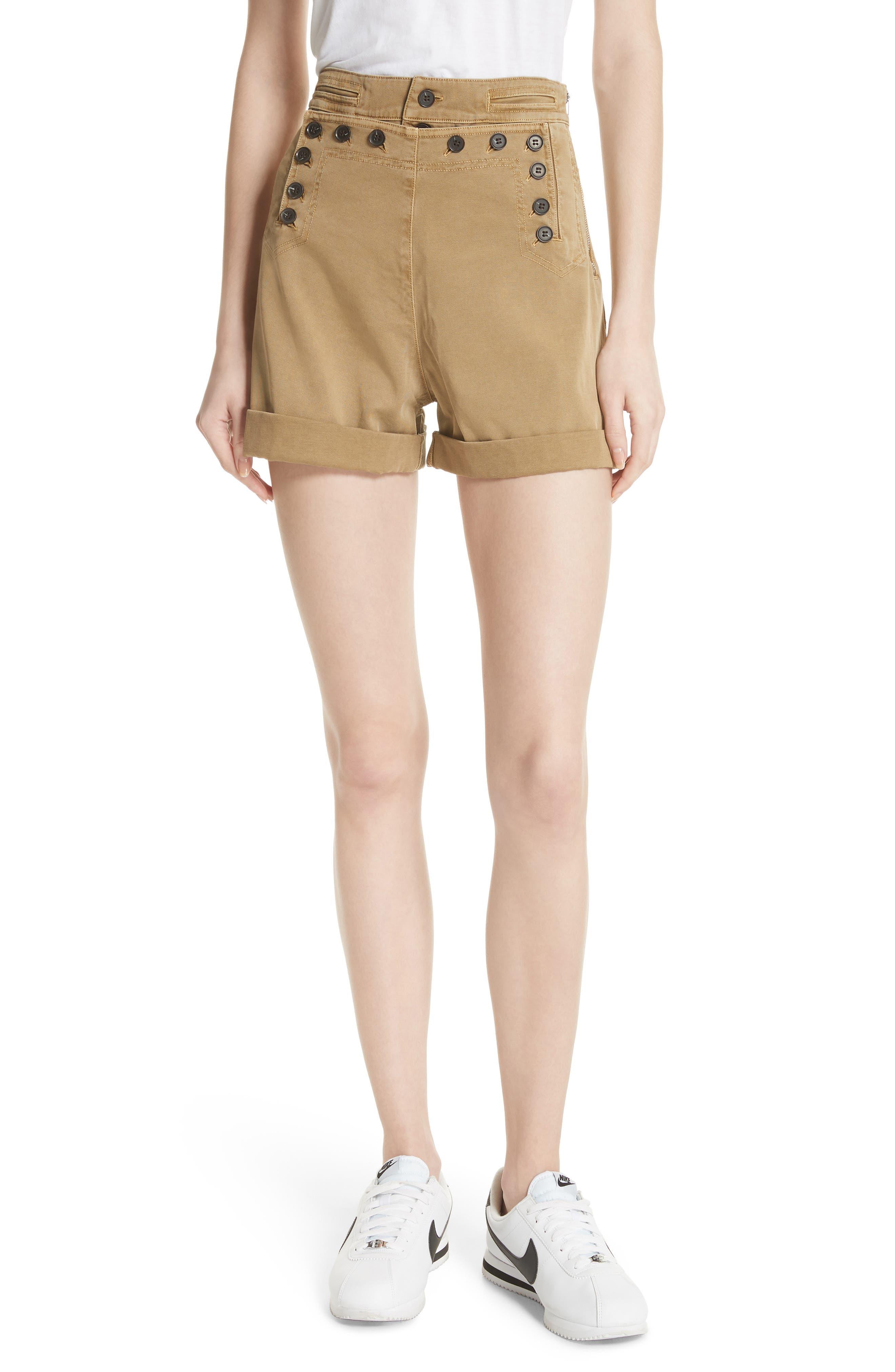 Pierce High Waist Sailor Shorts,                             Main thumbnail 1, color,