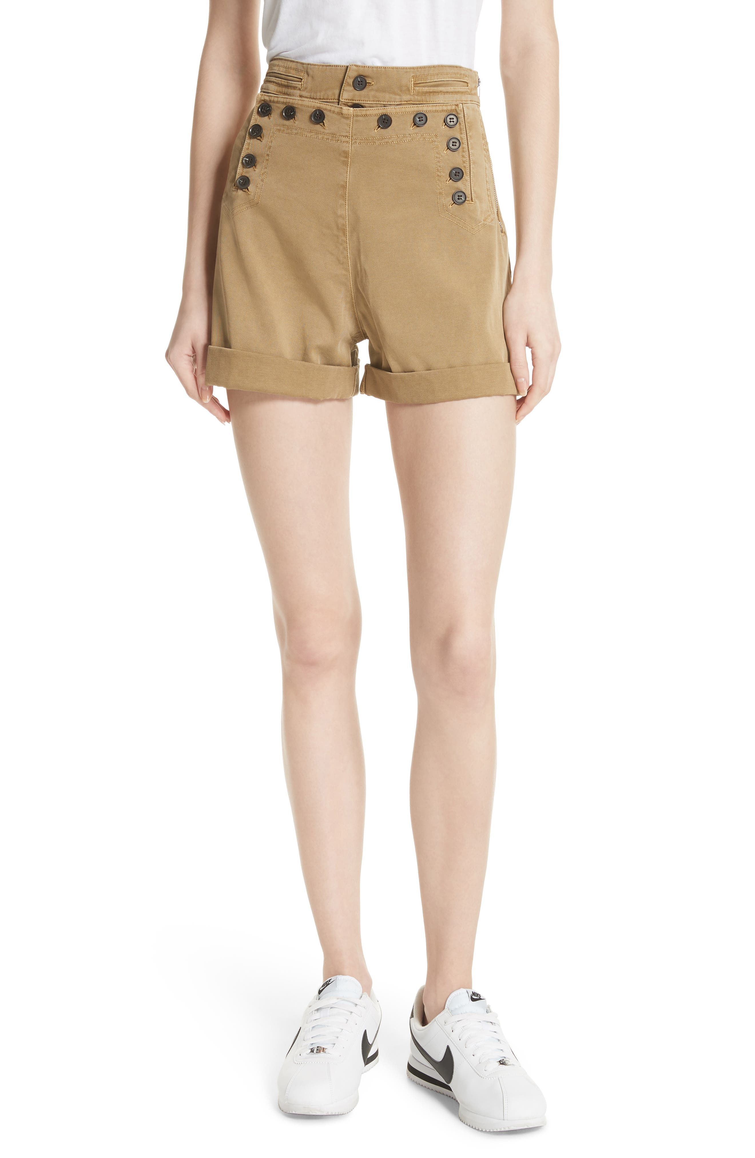 Pierce High Waist Sailor Shorts,                         Main,                         color,