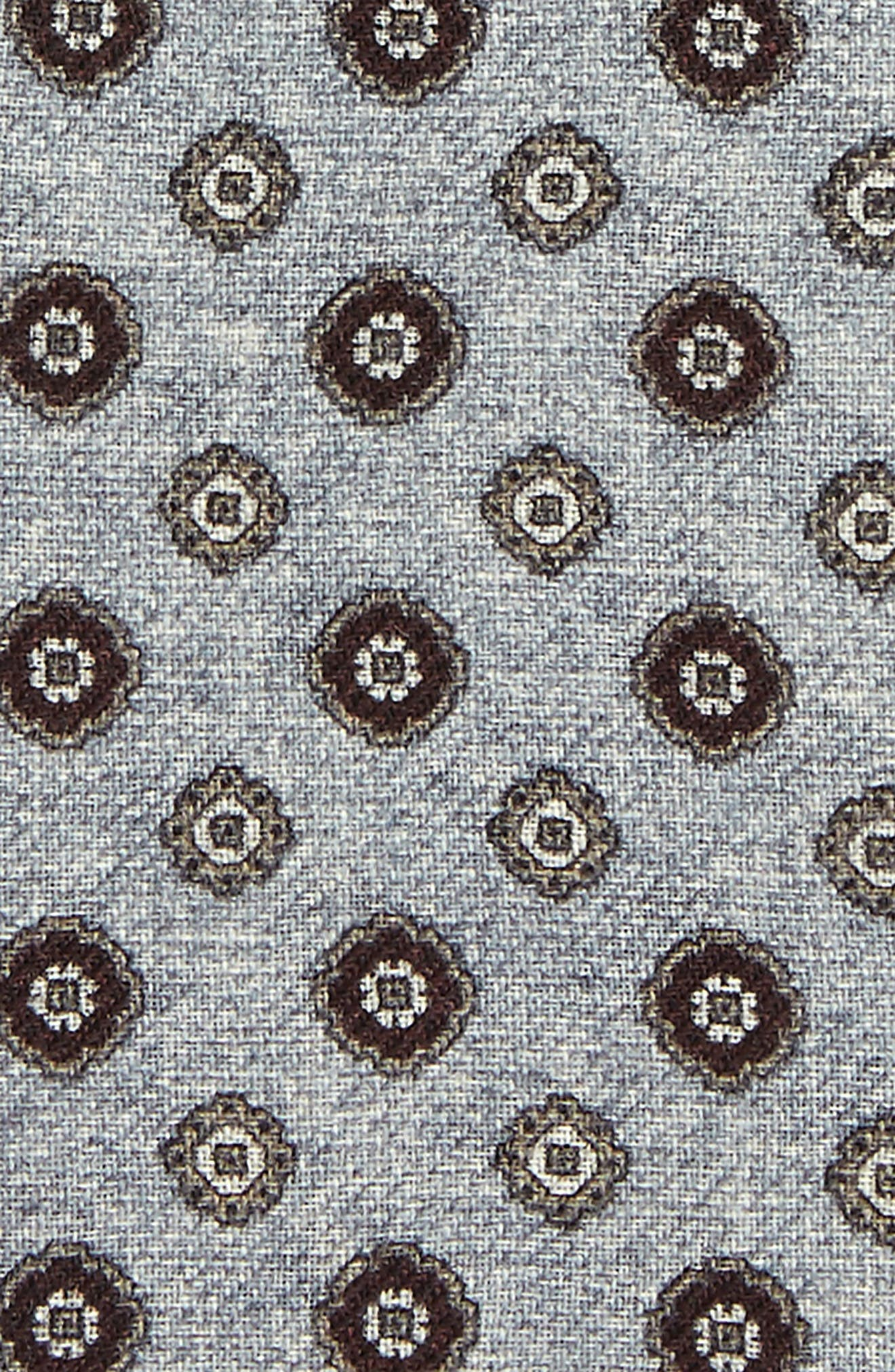 Medallion Wool Pocket Square,                             Alternate thumbnail 5, color,