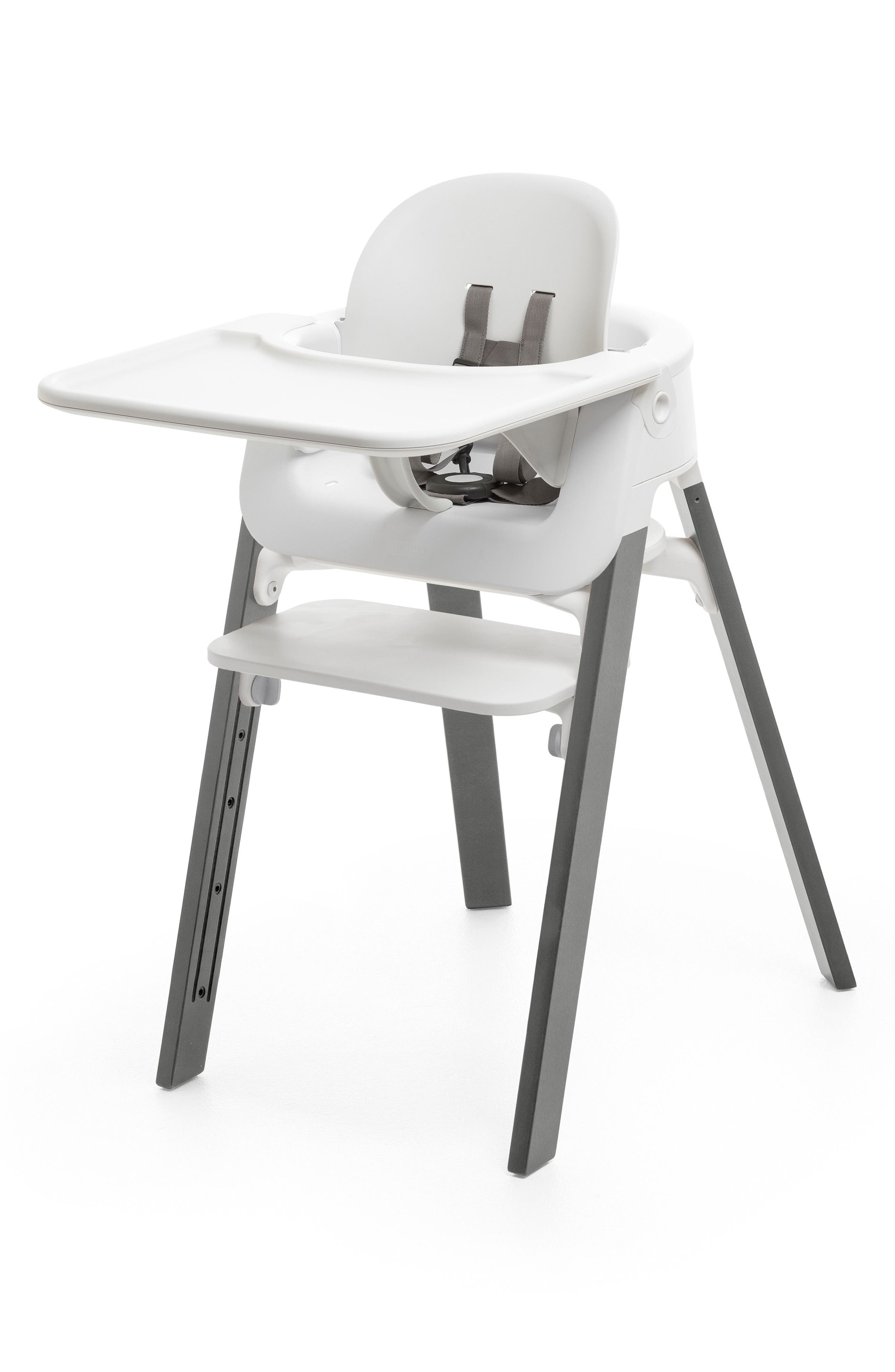 STOKKE,                             Steps<sup>™</sup> Chair,                             Alternate thumbnail 2, color,                             STORM GREY WITH WHITE SEAT
