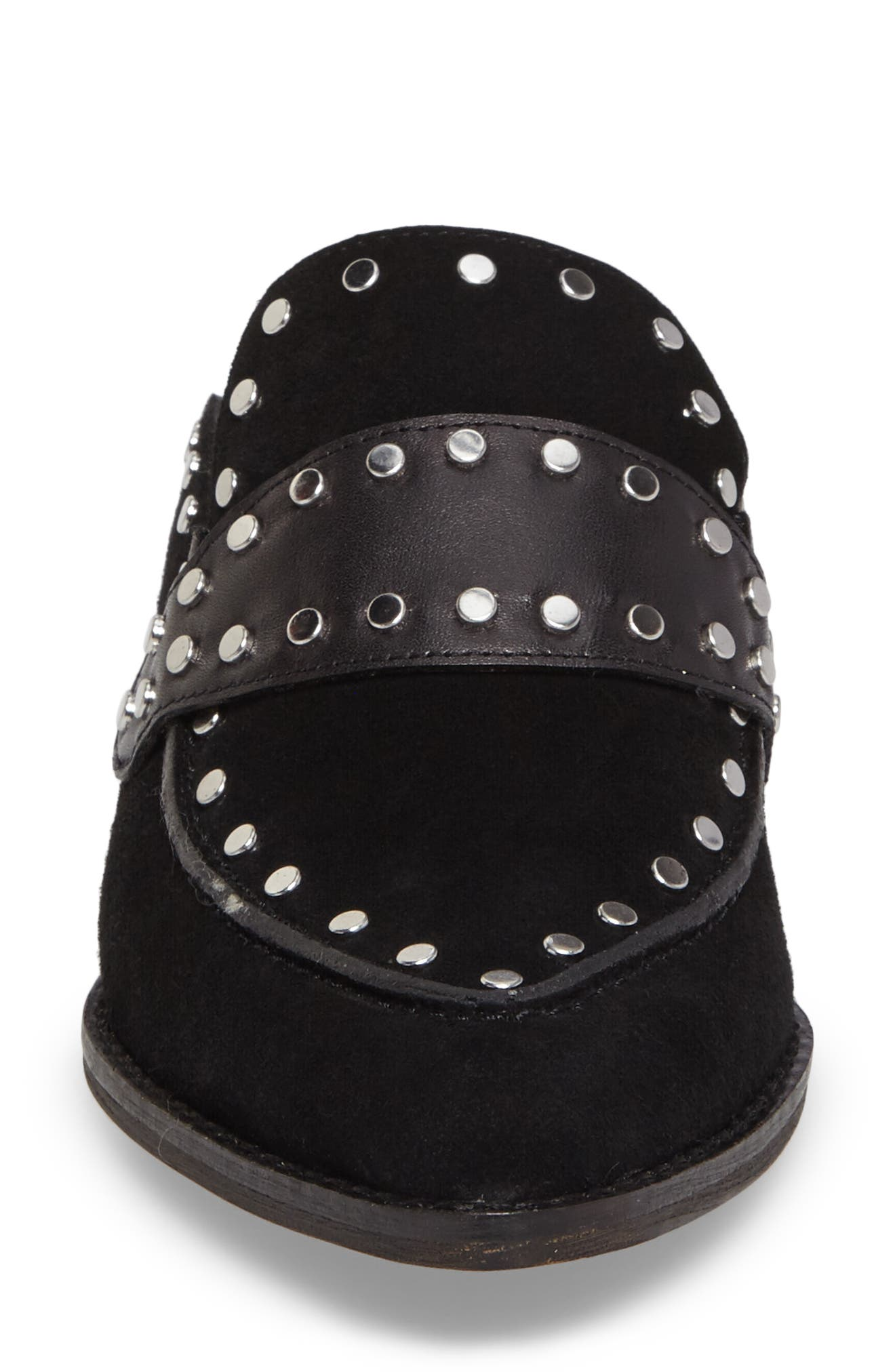 Donna Studded Mule,                             Alternate thumbnail 4, color,                             001