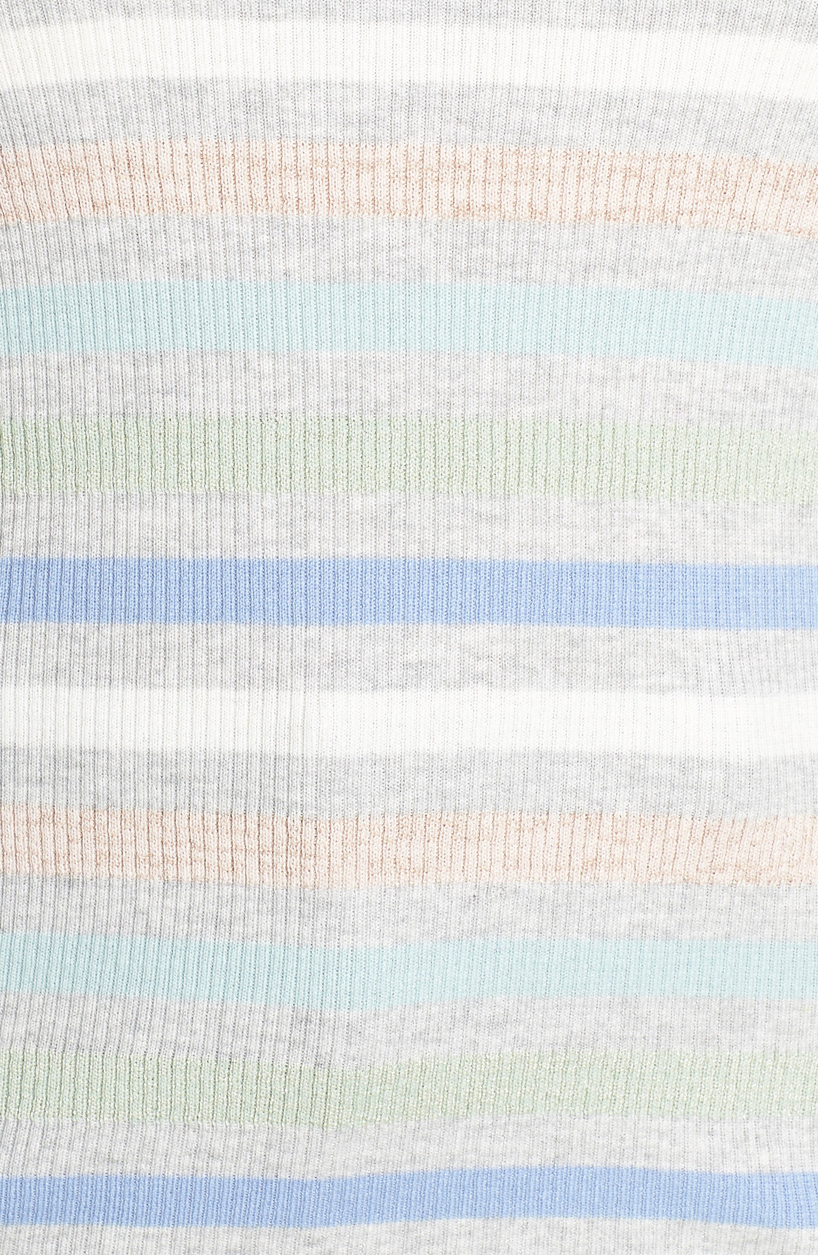 x Atlantic-Pacific Shimmer Stripe Sweater,                             Alternate thumbnail 5, color,                             GREY MULTI STRIPE