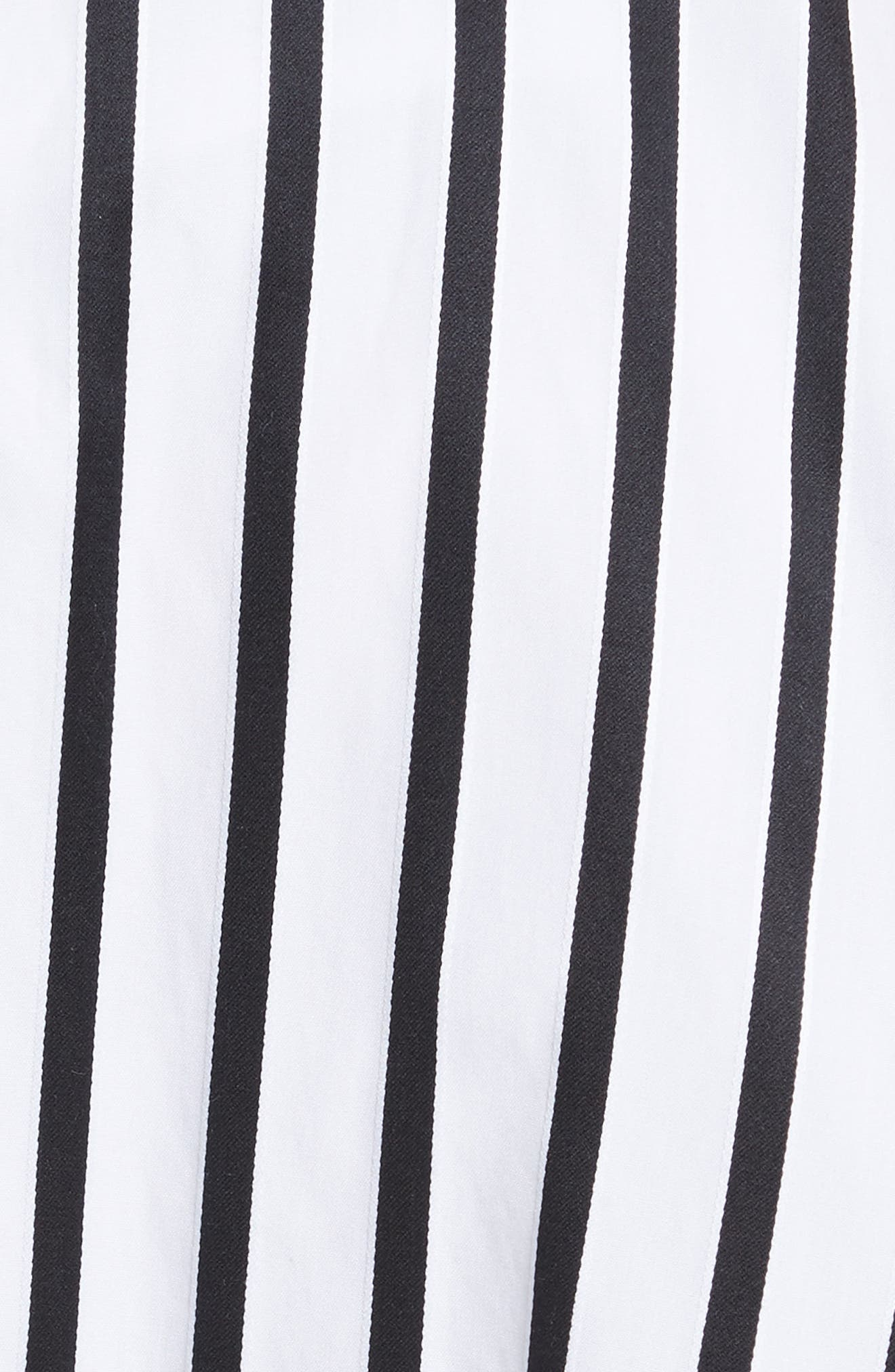 Stripe Cotton Asymmetrical Skirt,                             Alternate thumbnail 5, color,                             001