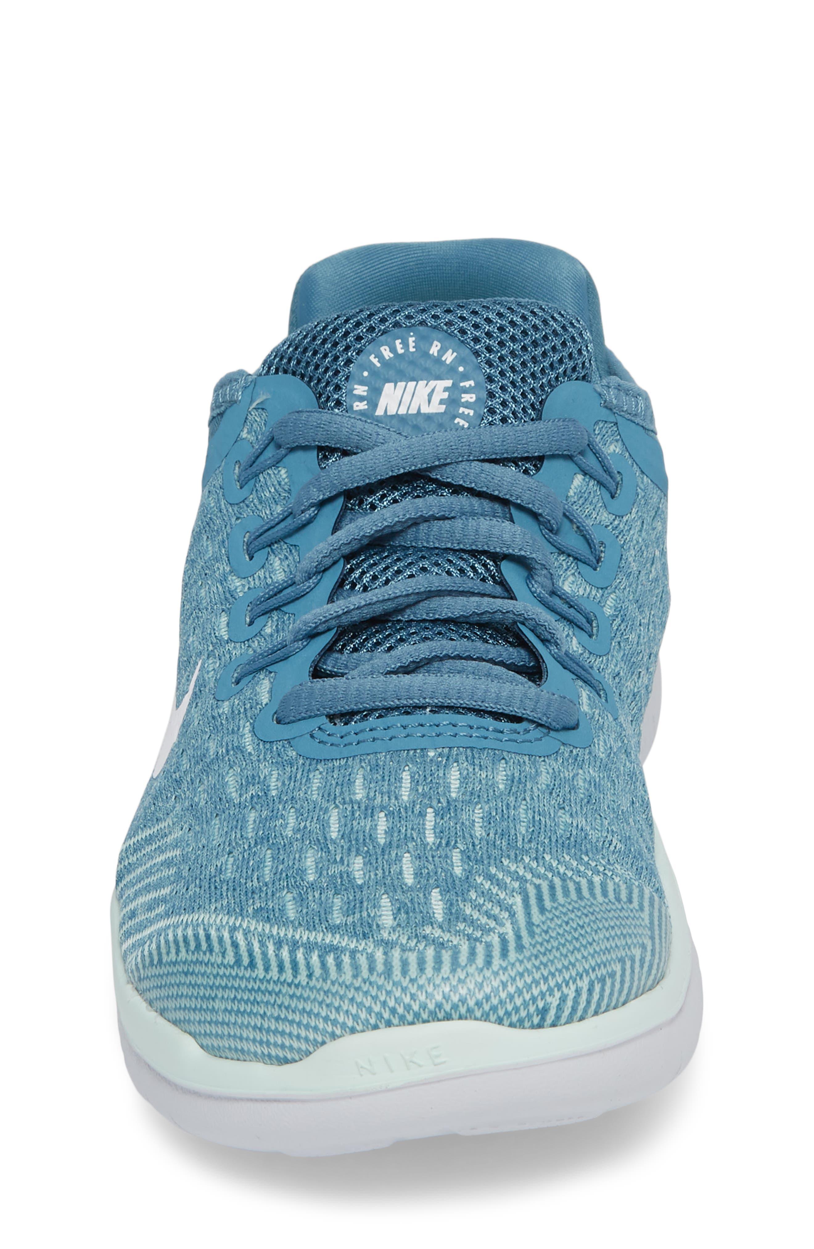 Free RN 2018 Running Shoe,                             Alternate thumbnail 4, color,                             AQUA/ WHITE/ PURE PLATINUM