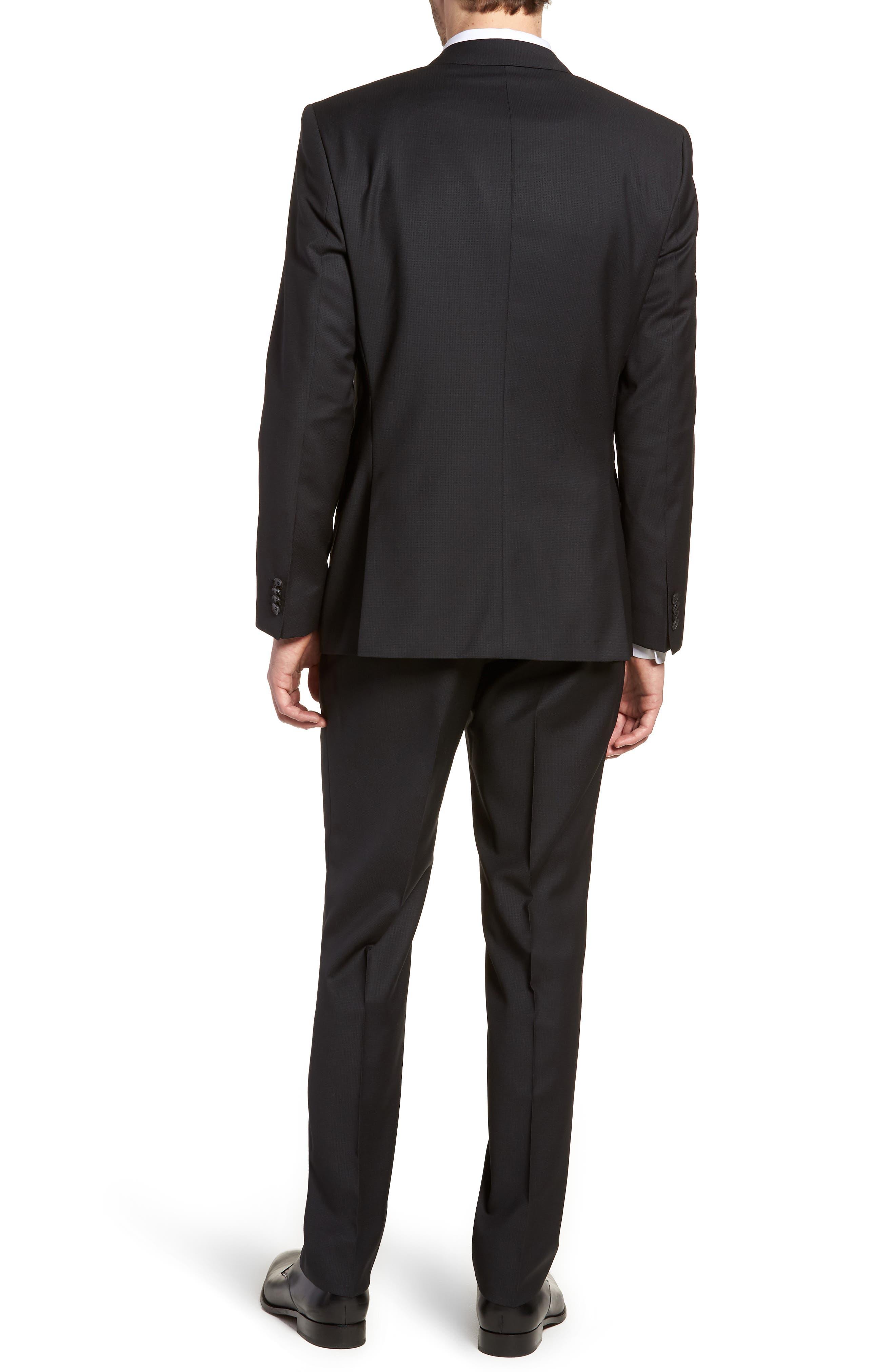 'Huge/Genius' Trim Fit Solid Wool Suit,                             Alternate thumbnail 2, color,                             BLACK