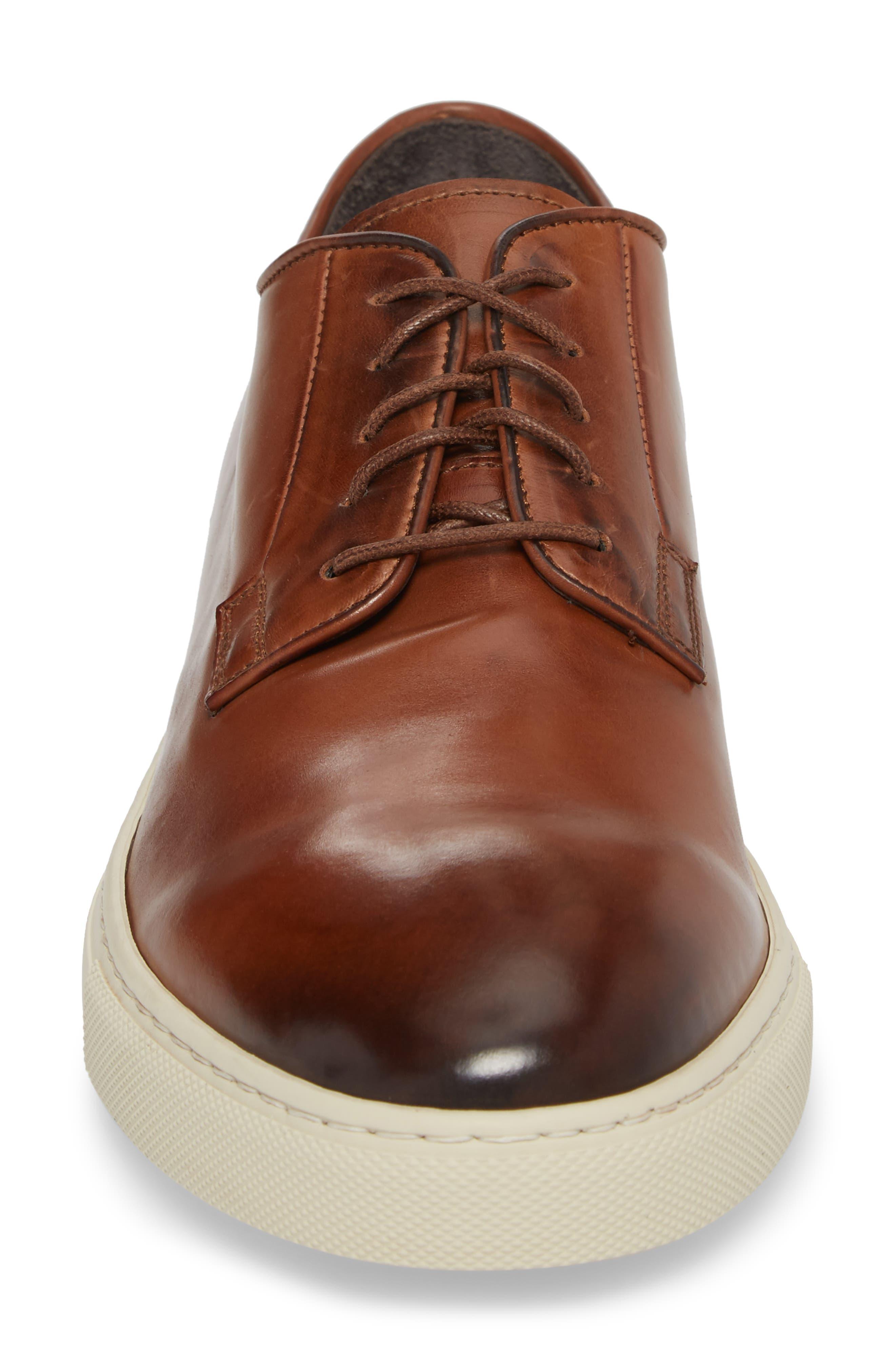 Plain Toe Derby Sneaker,                             Alternate thumbnail 4, color,                             DIVER TAN LEATHER