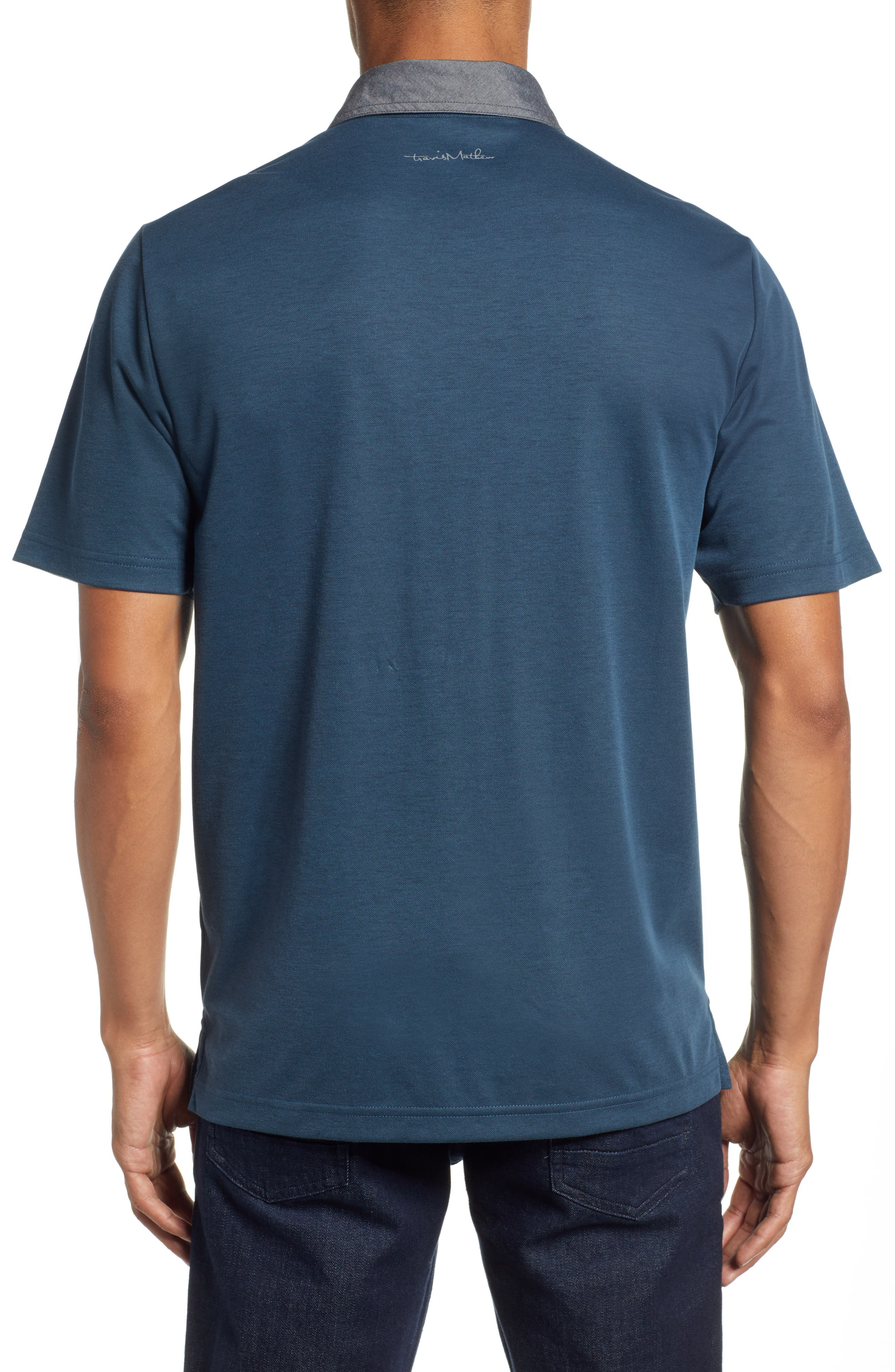 Change the Game Regular Fit Polo,                             Alternate thumbnail 2, color,                             BLUE WING TEAL/ BLACK