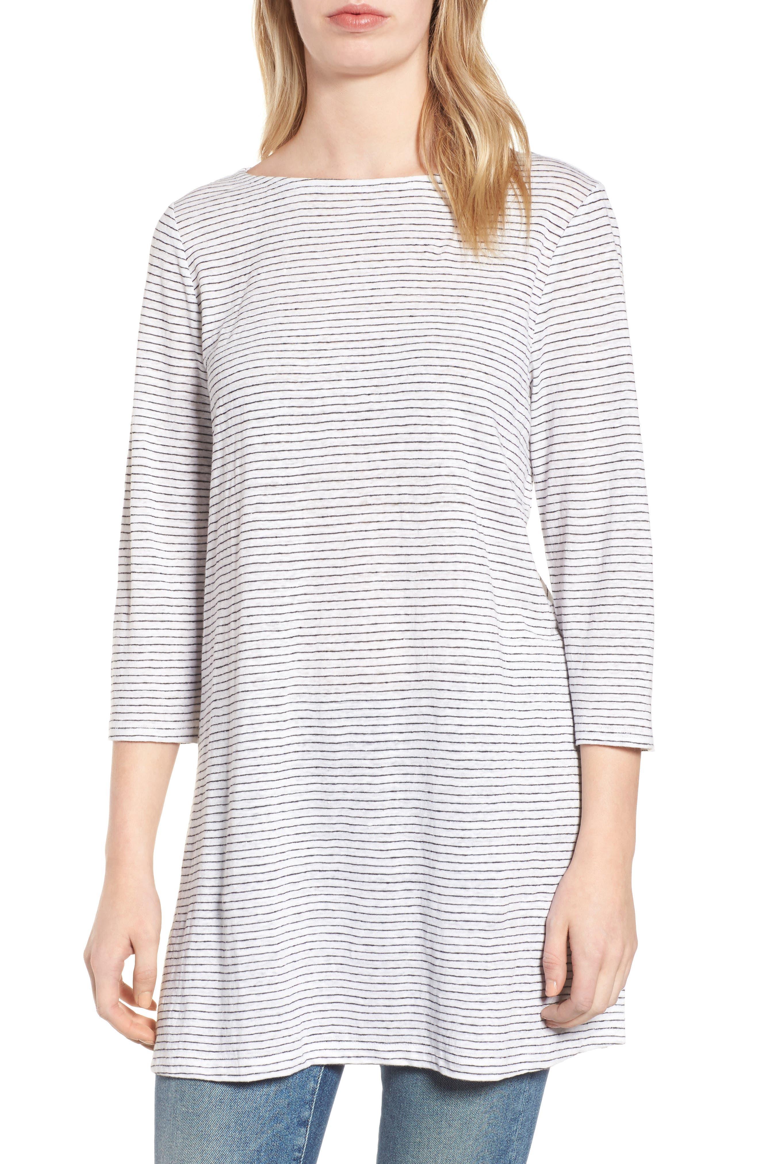 Organic Linen Tunic,                         Main,                         color, 120