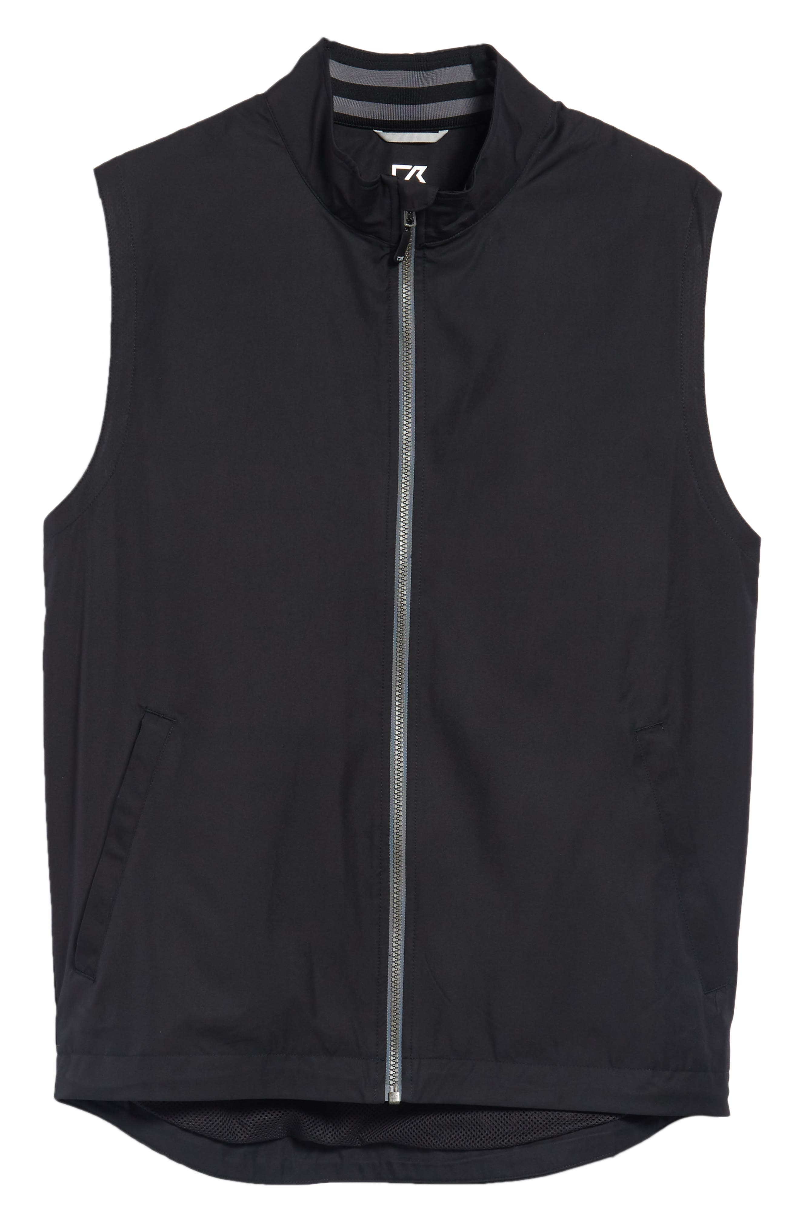 Nine Iron DryTec Zip Vest,                             Alternate thumbnail 5, color,                             BLACK