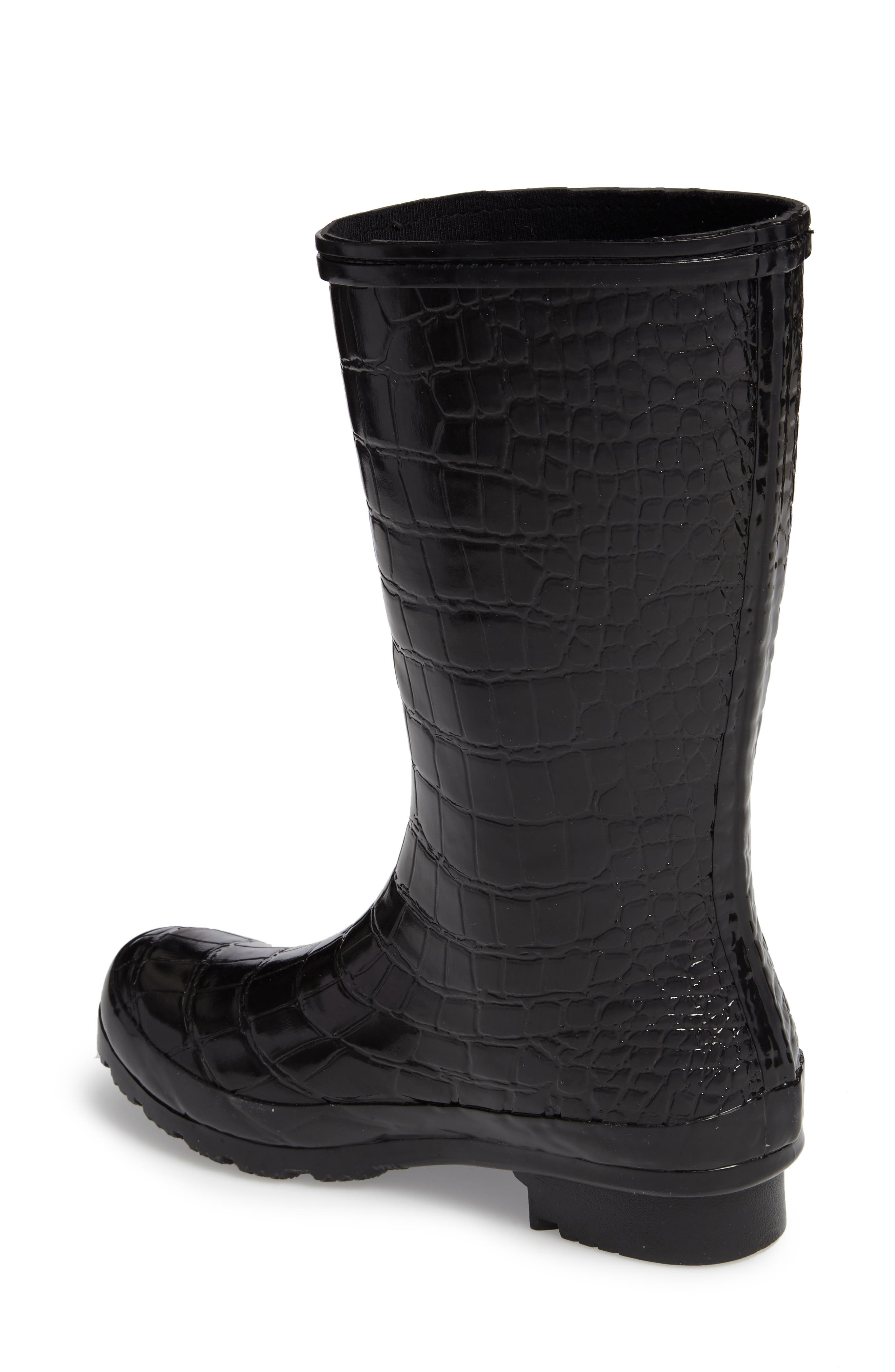 Short Rain Boot,                             Alternate thumbnail 2, color,                             001