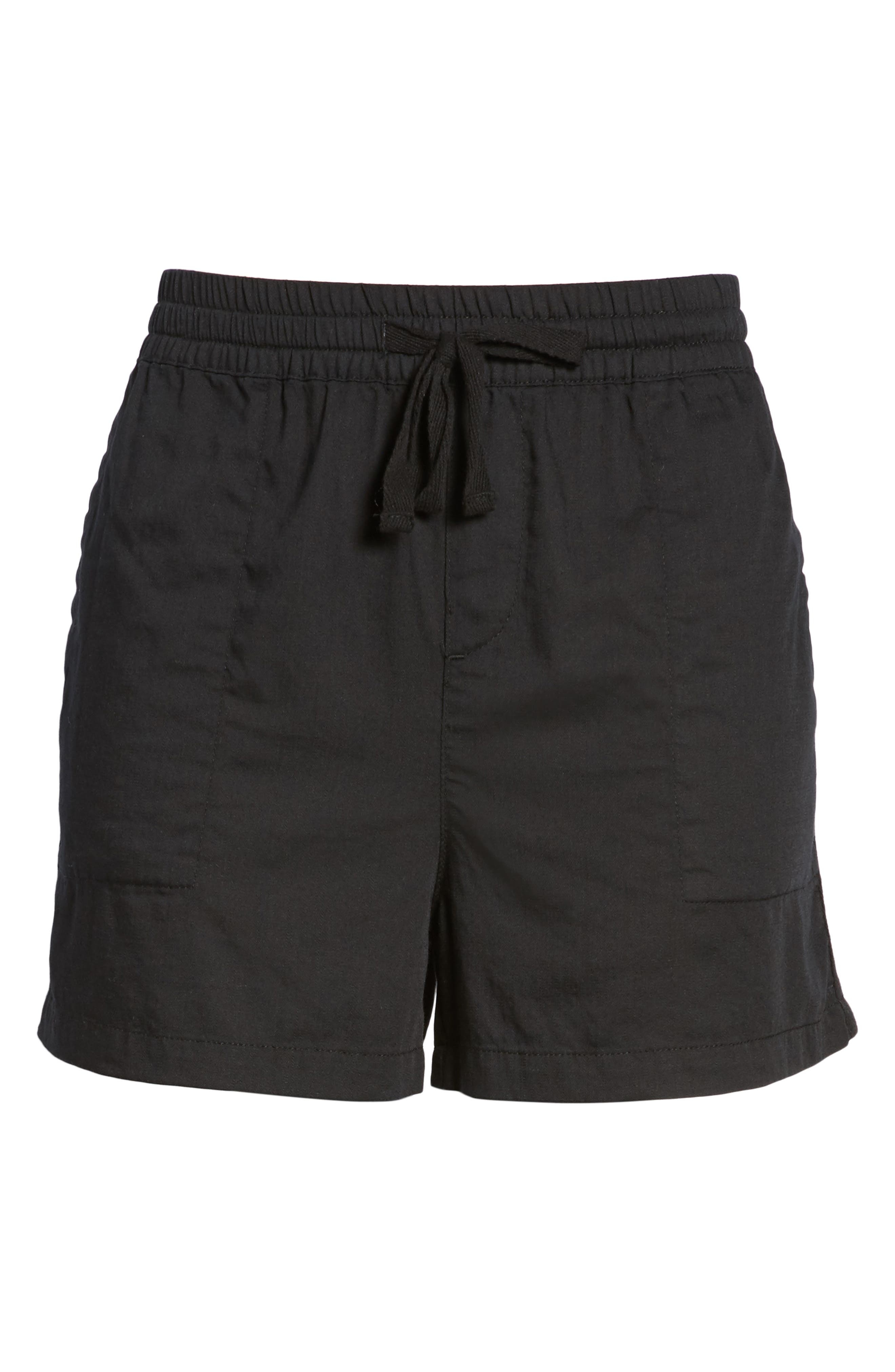 Pull-On Twill Shorts,                             Alternate thumbnail 6, color,                             001