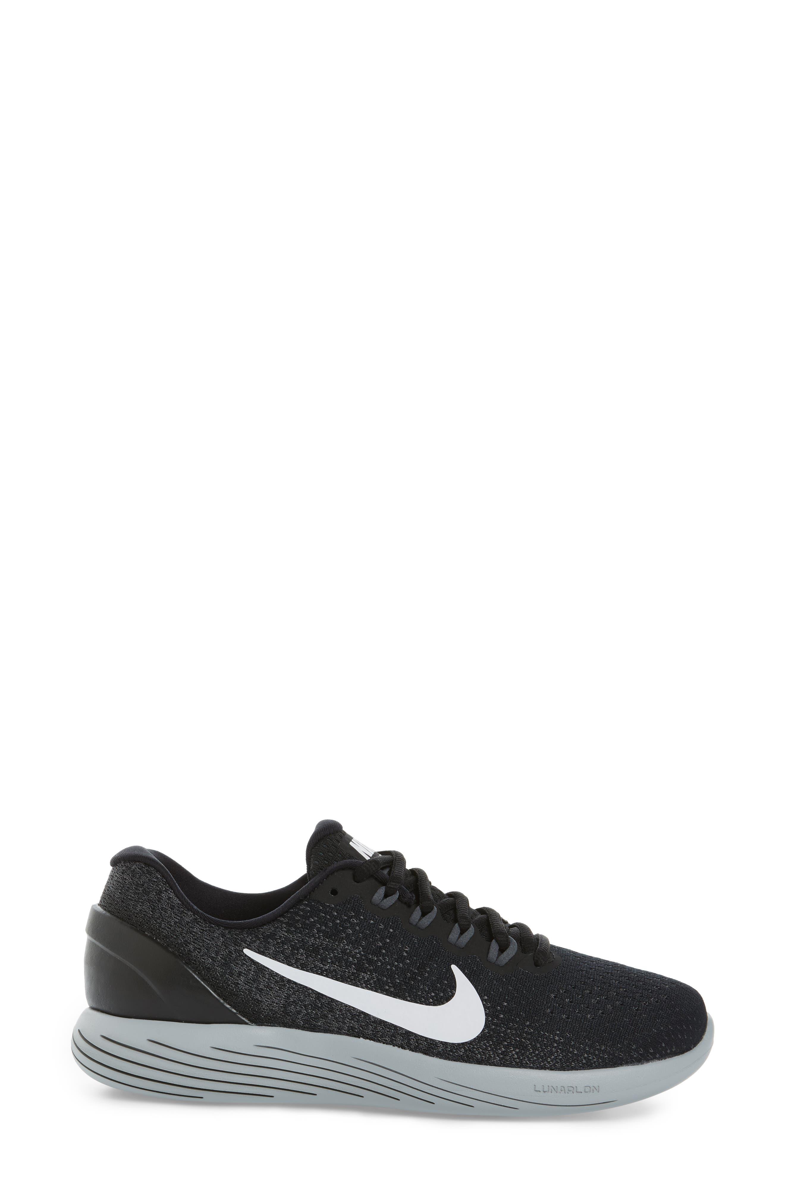 LunarGlide 9 Running Shoe,                             Alternate thumbnail 3, color,                             001