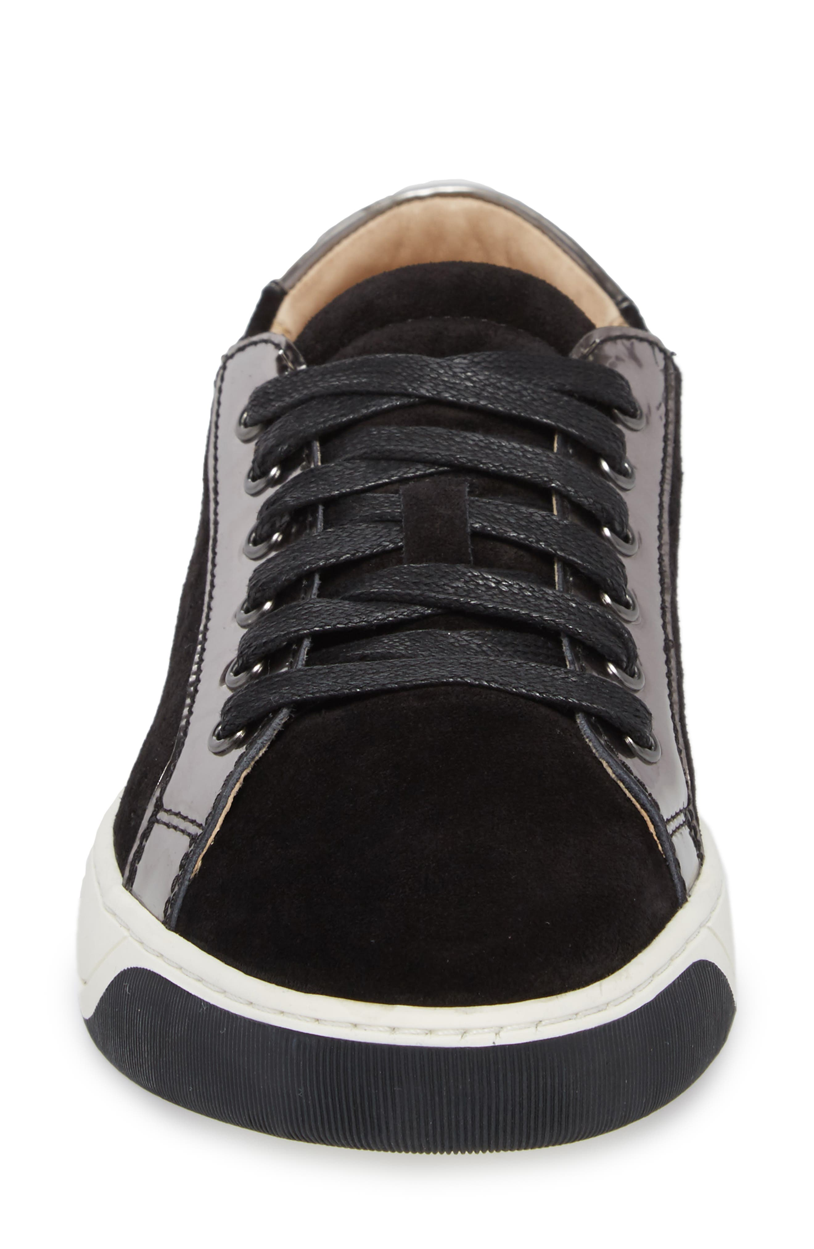 Emerson Perforated Sneaker,                             Alternate thumbnail 4, color,                             001