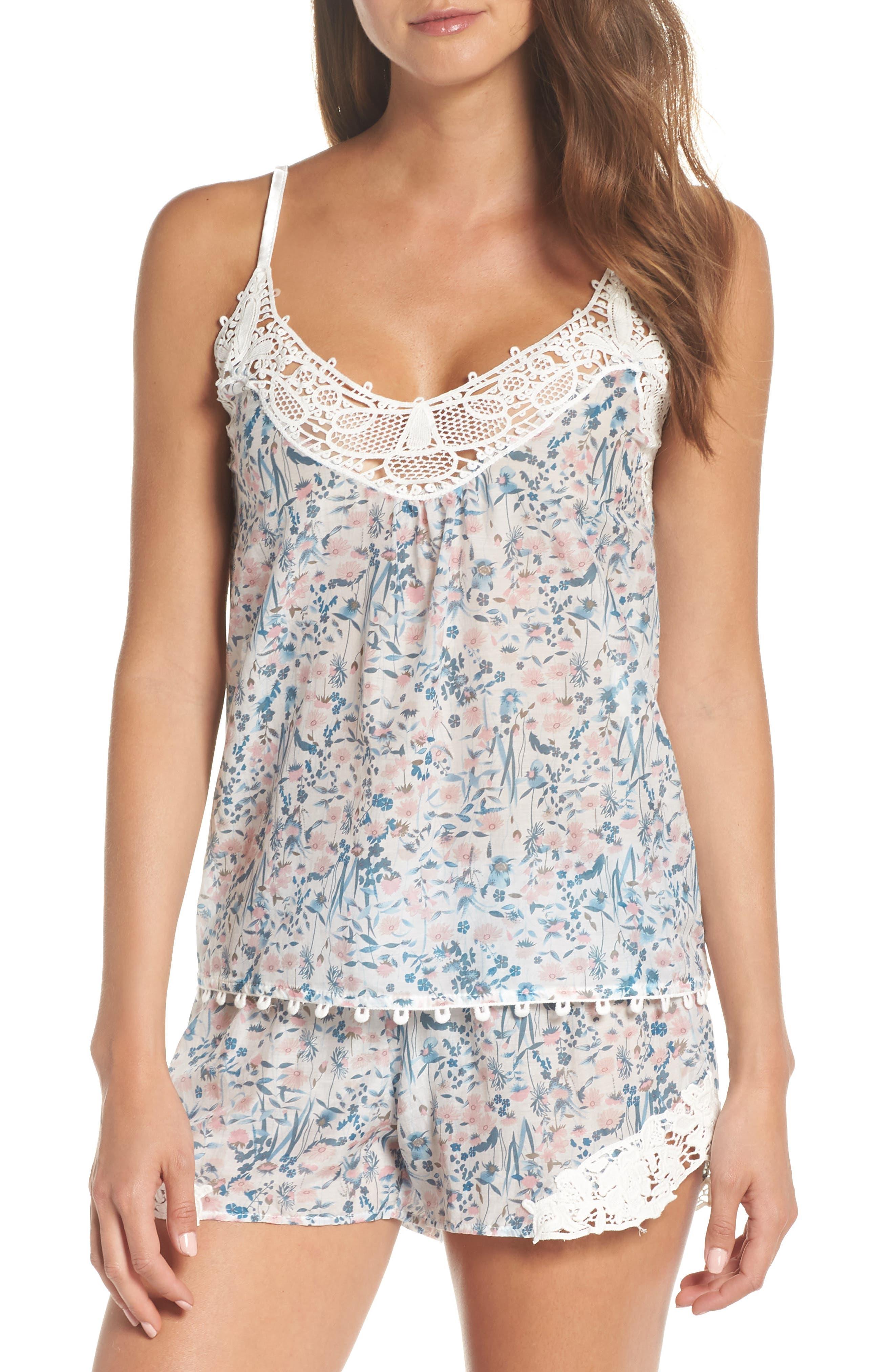 Ellie Short Pajamas,                         Main,                         color, BLUE