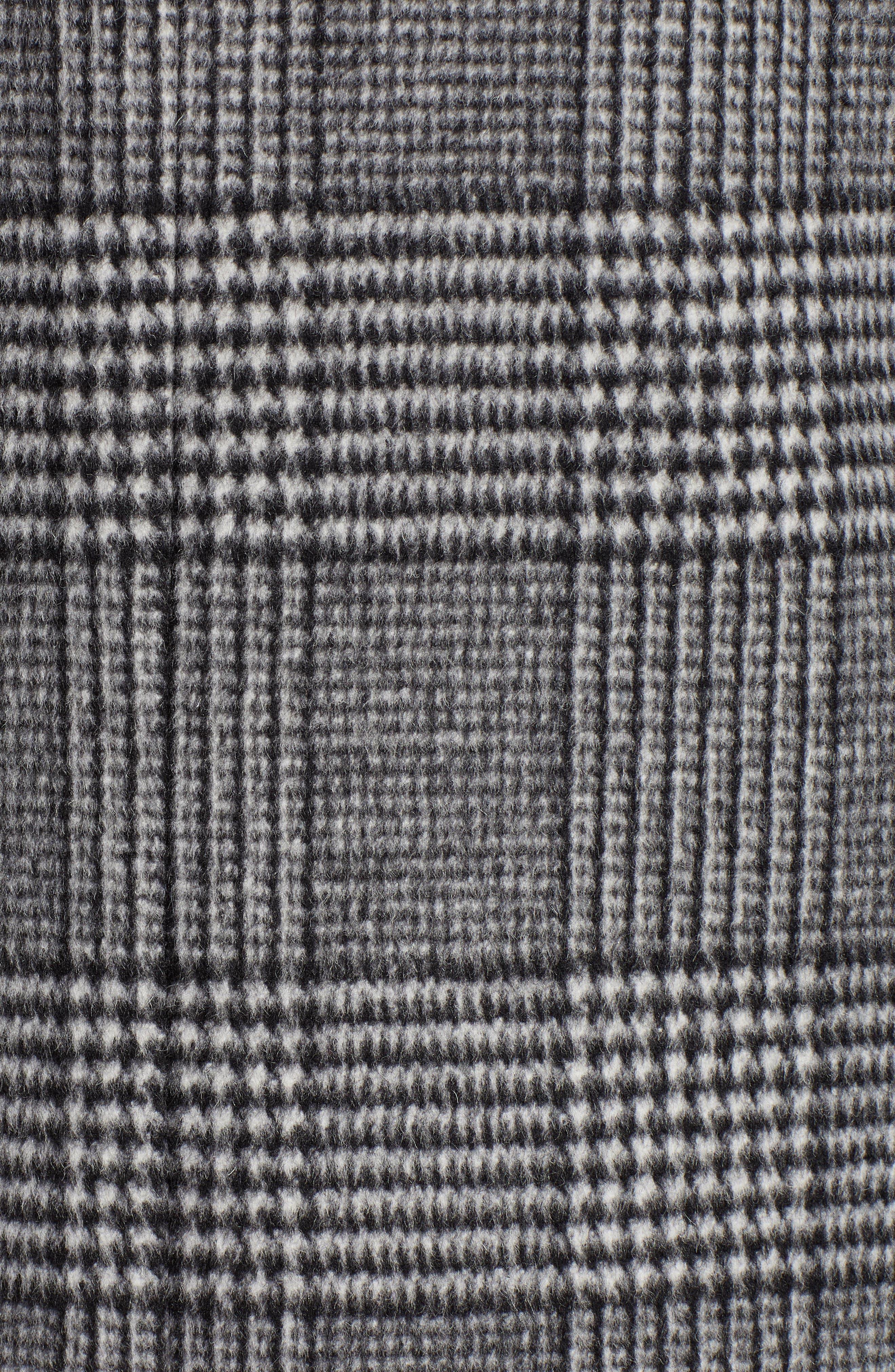 Plaid Mix Wool Coat,                             Alternate thumbnail 7, color,                             001
