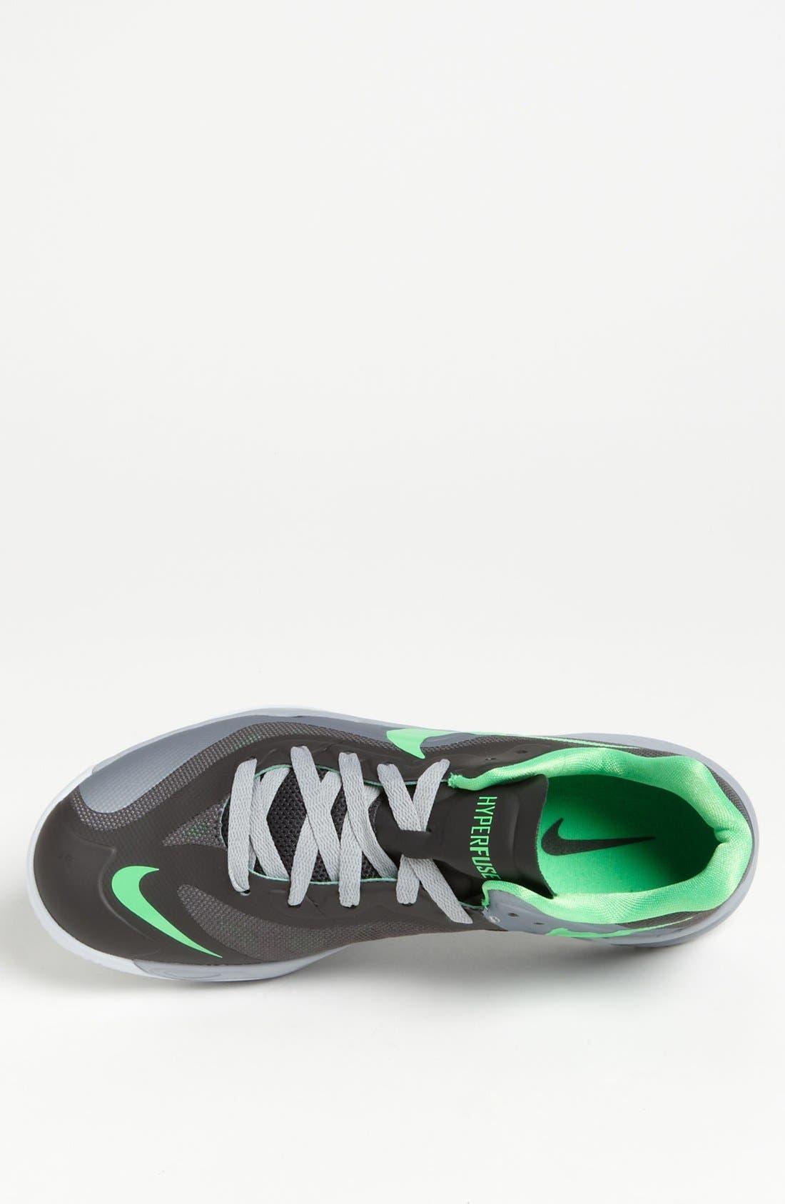 NIKE,                             'Hyperfuse Low' Basketball Shoe,                             Alternate thumbnail 4, color,                             004