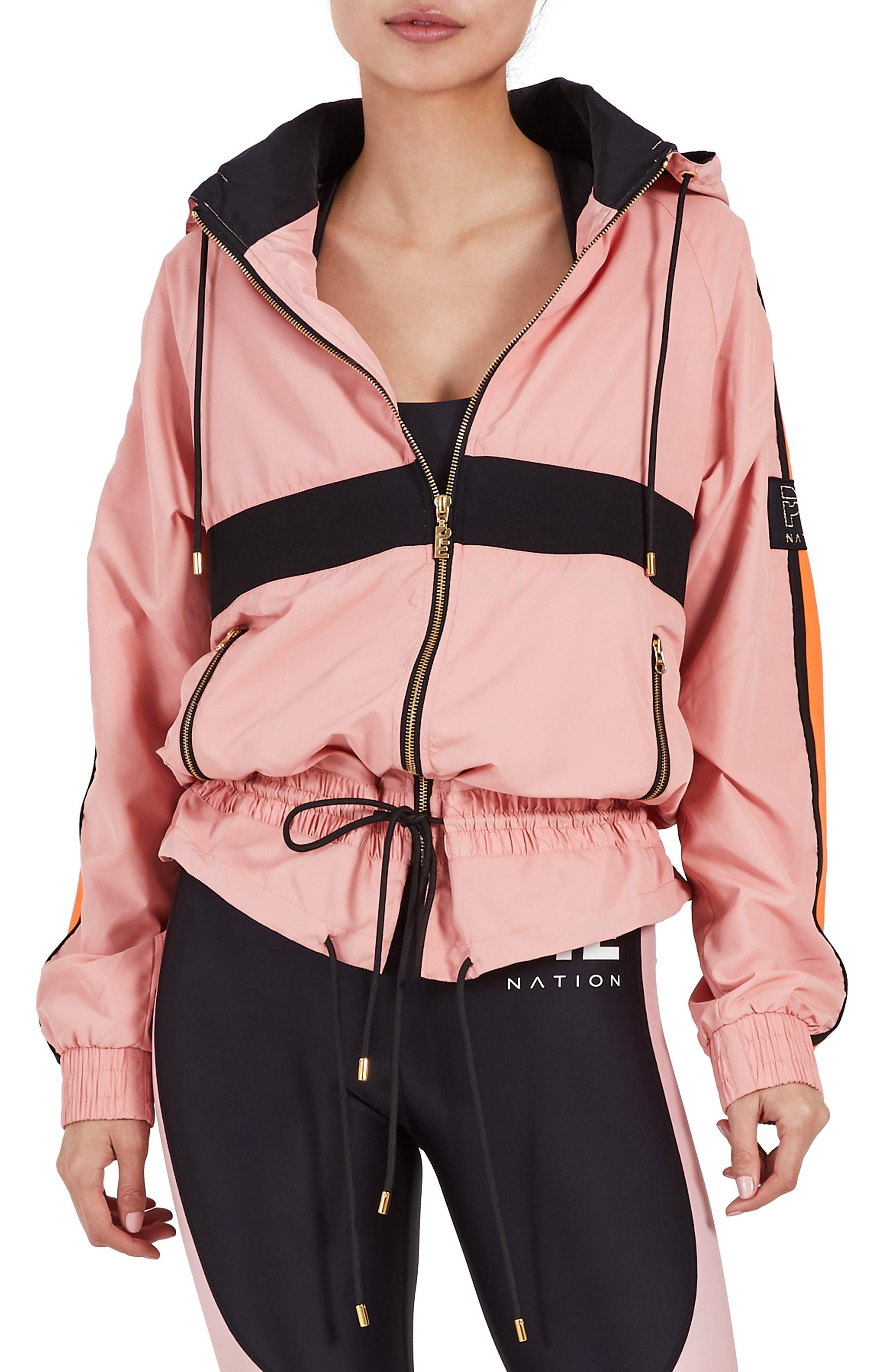 P.E. Nation Slouchy Jacket,                         Main,                         color, SALMON