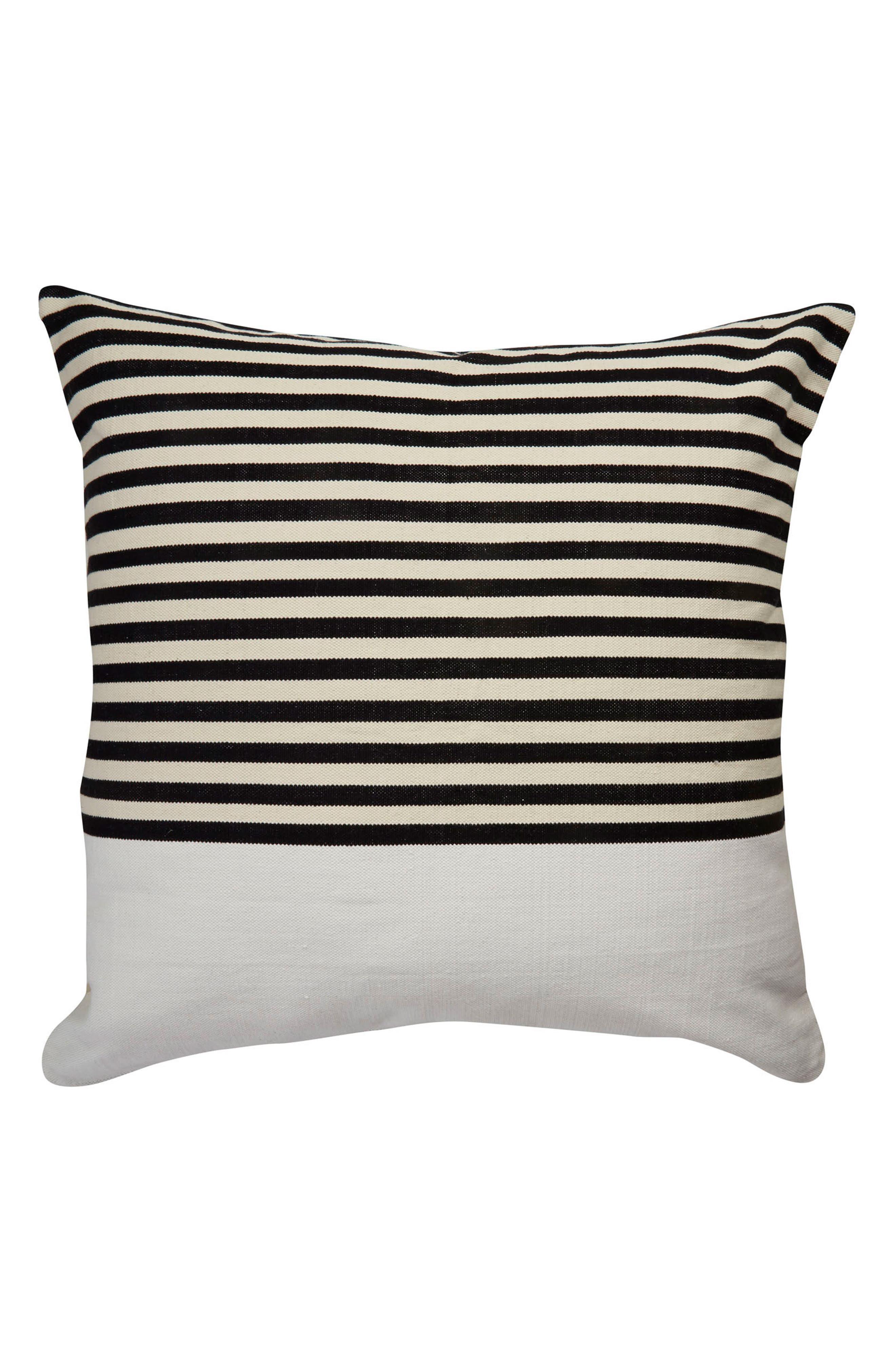 double stripe accent pillow,                             Alternate thumbnail 2, color,                             001