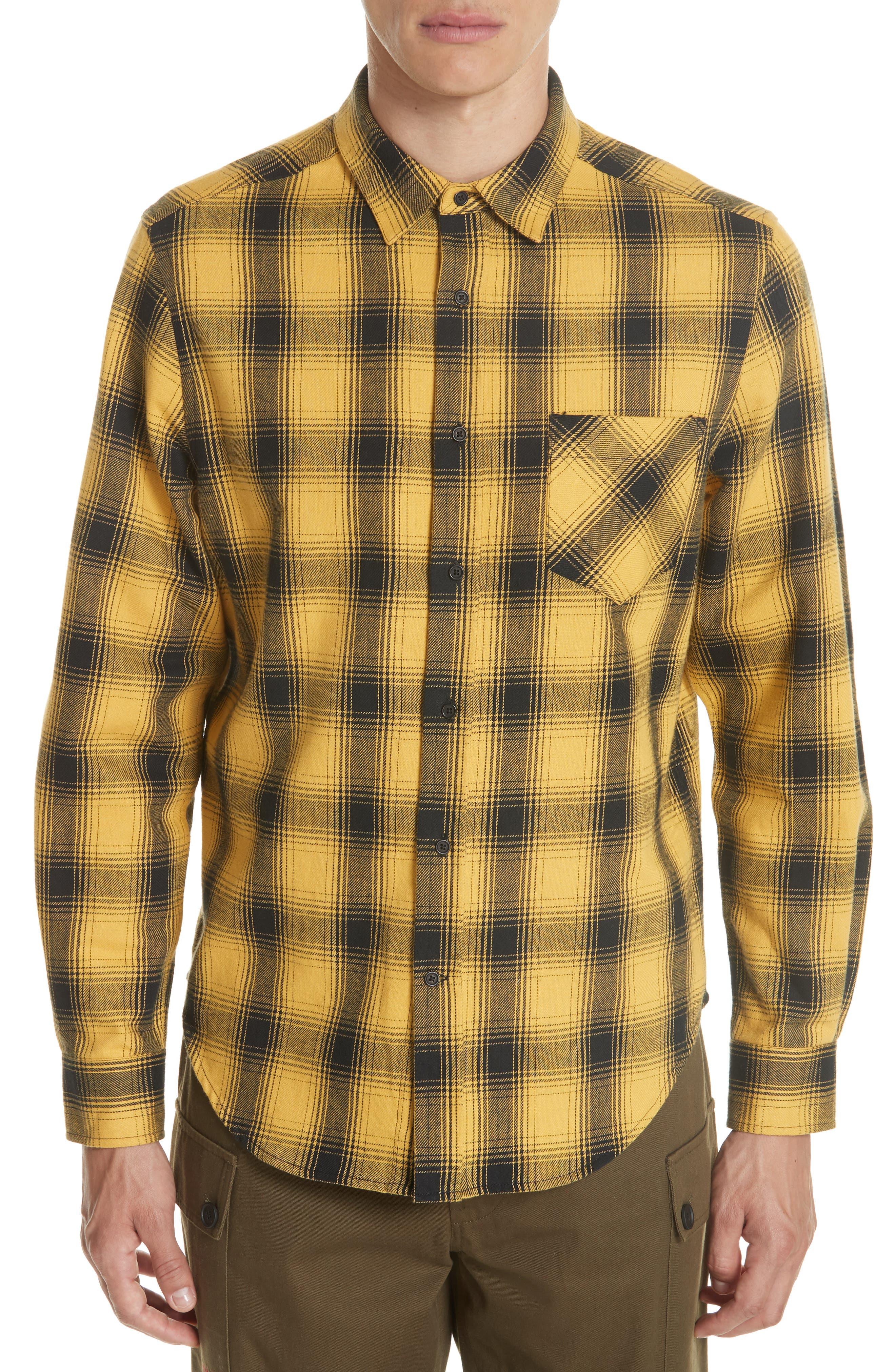 Max Plaid Flannel Shirt,                             Main thumbnail 1, color,                             GOLD PLAID