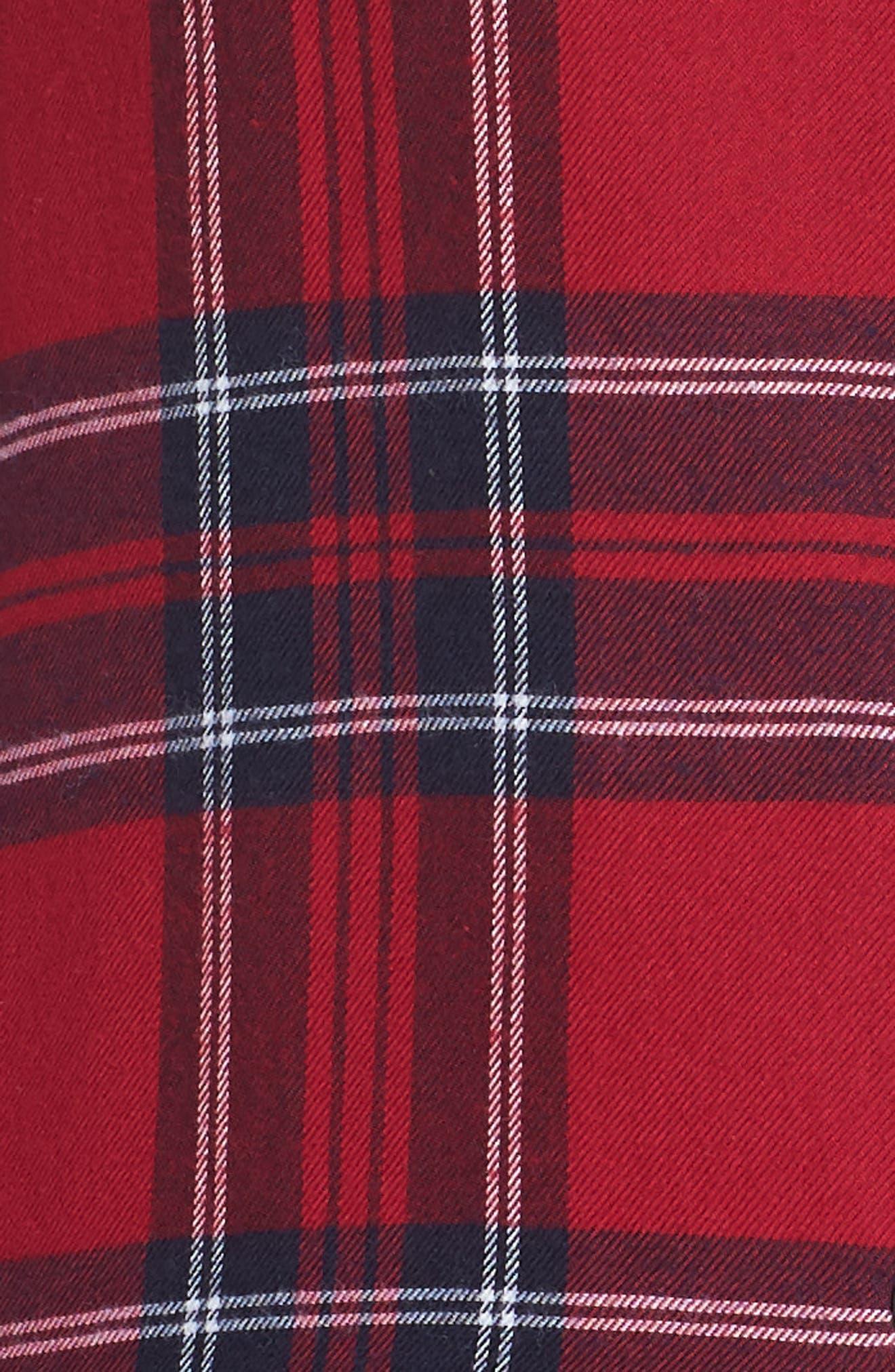 Plaid Pajamas,                             Alternate thumbnail 5, color,                             SCARLET NAVY WHITE