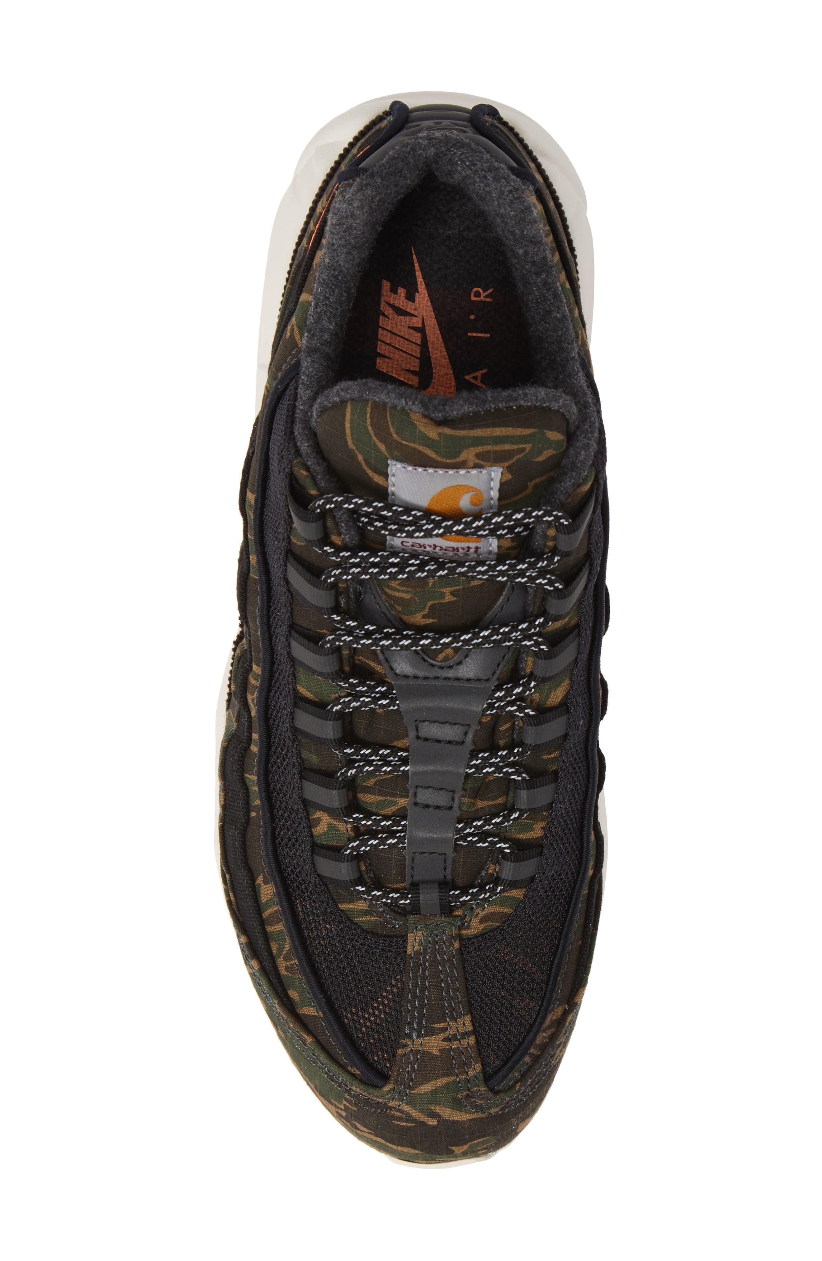 NIKE,                             x Carhartt Air Max 95 WIP Sneaker,                             Alternate thumbnail 5, color,                             001