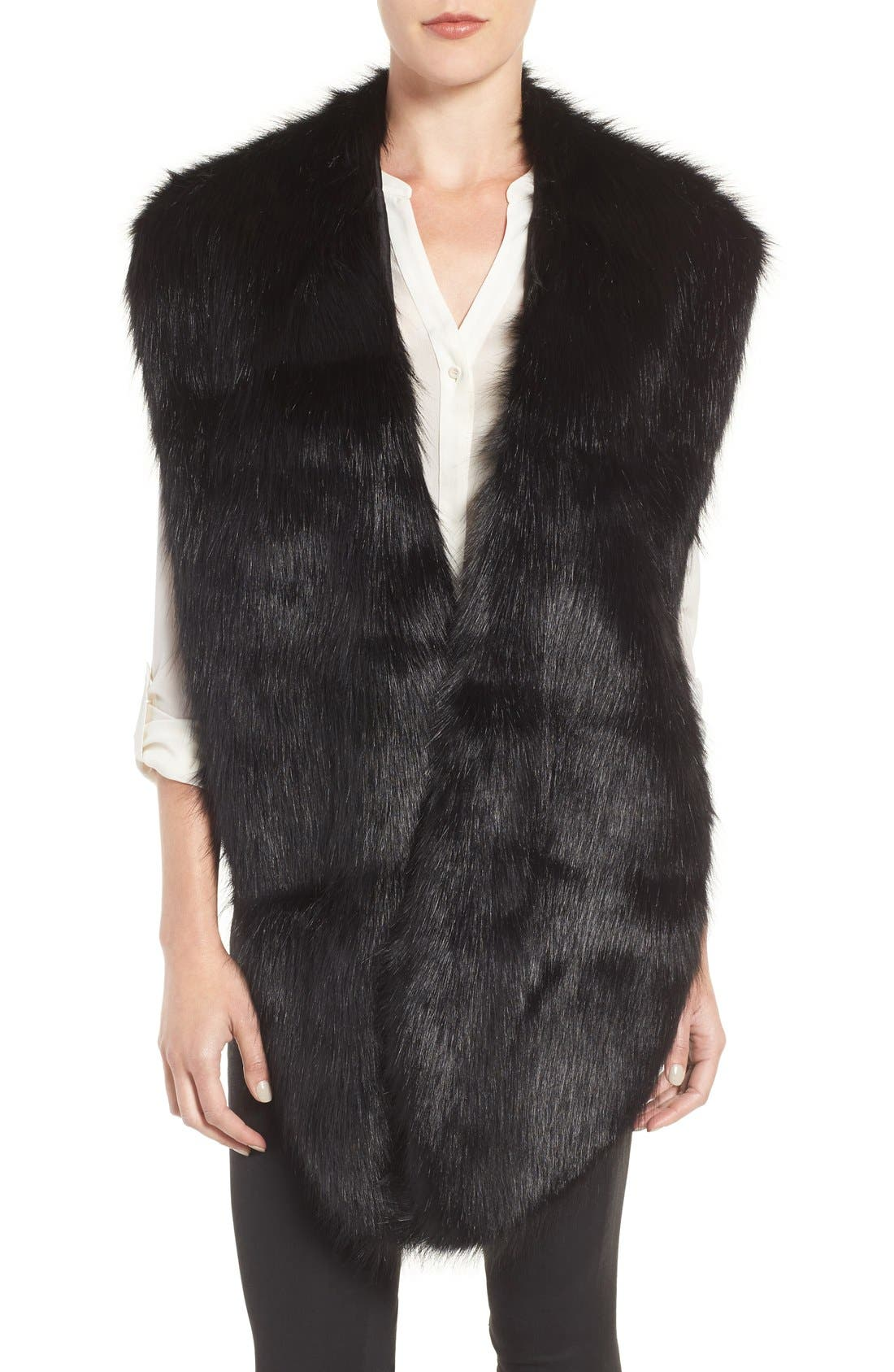 Faux Mink Stole,                             Main thumbnail 2, color,