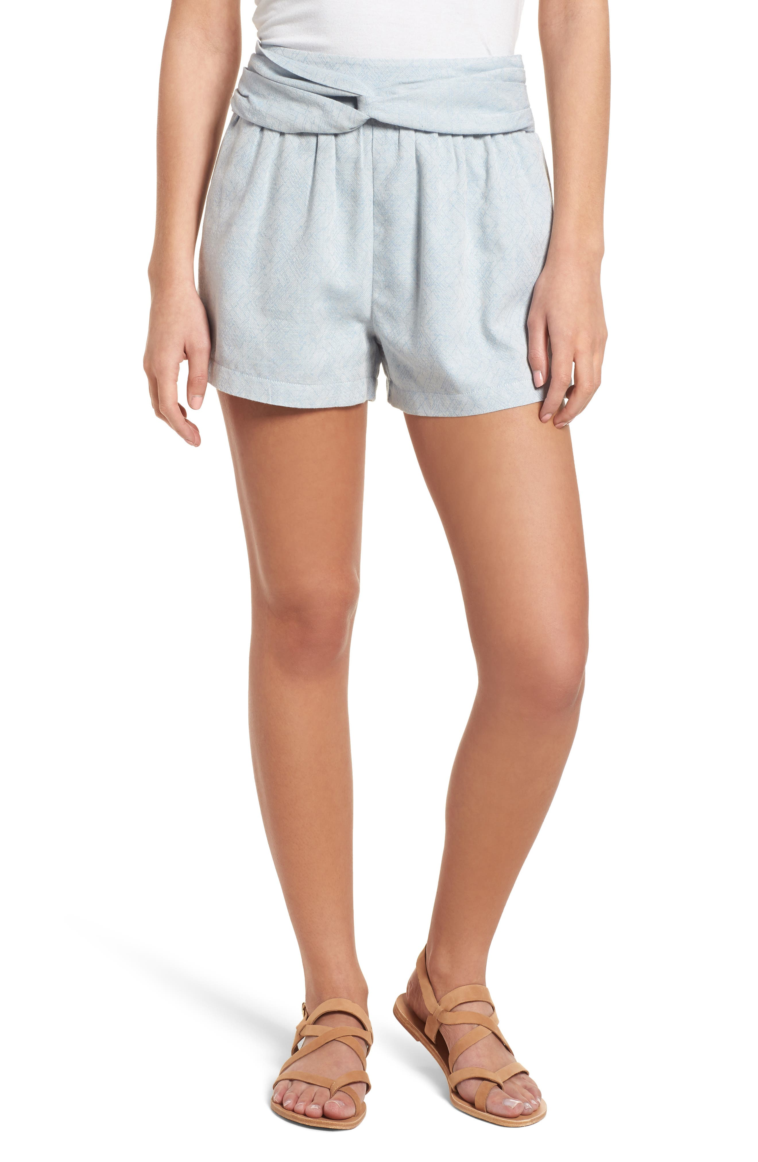 Knotted Jacquard Shorts,                         Main,                         color,