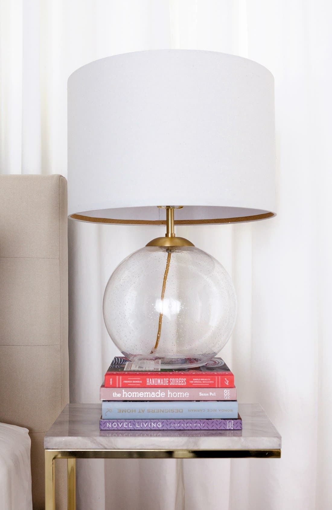 Seeded Glass Table Lamp,                             Alternate thumbnail 2, color,                             650