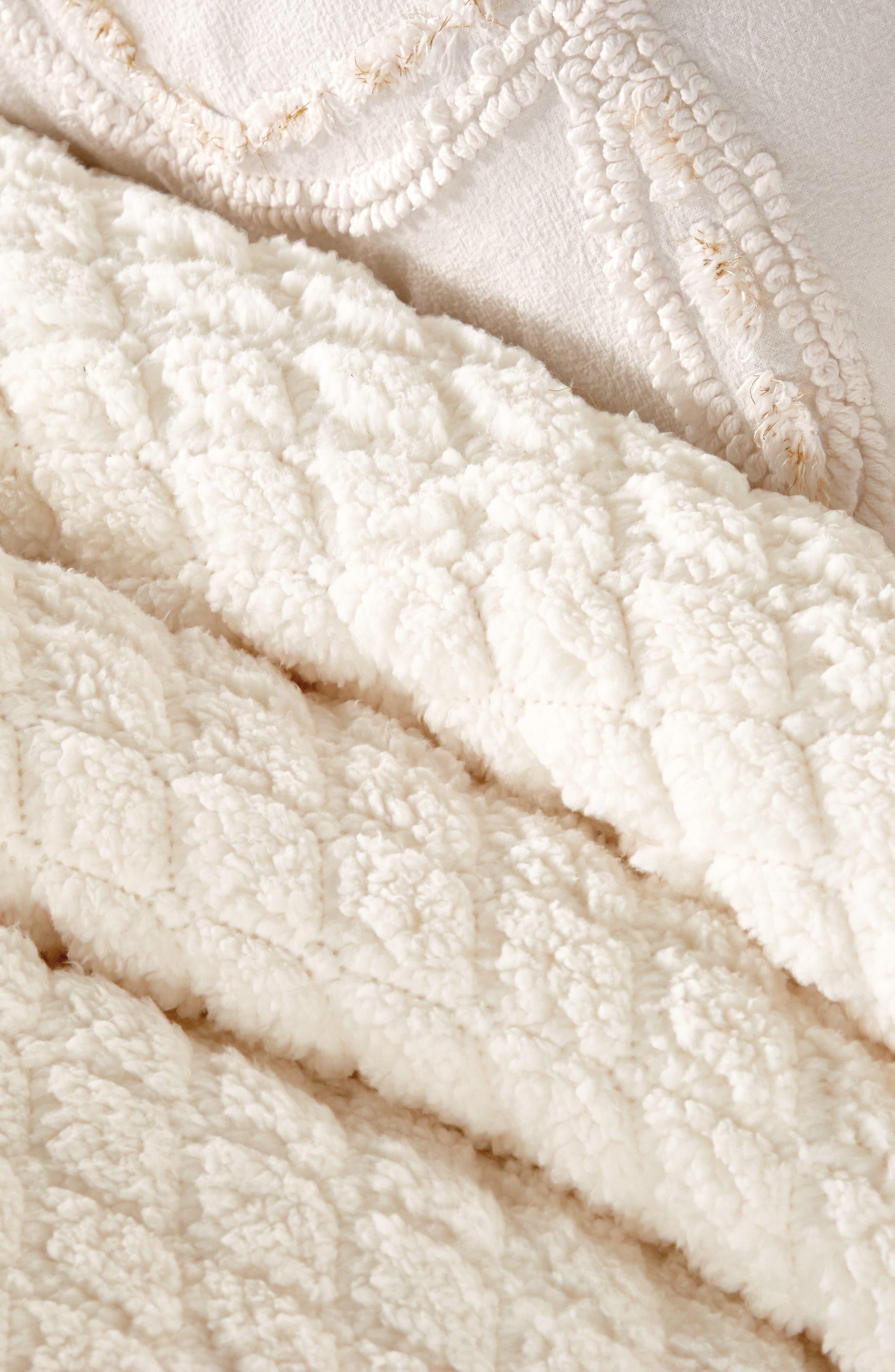 Diamond High Pile Fleece Comforter & Sham Set,                             Alternate thumbnail 2, color,                             902