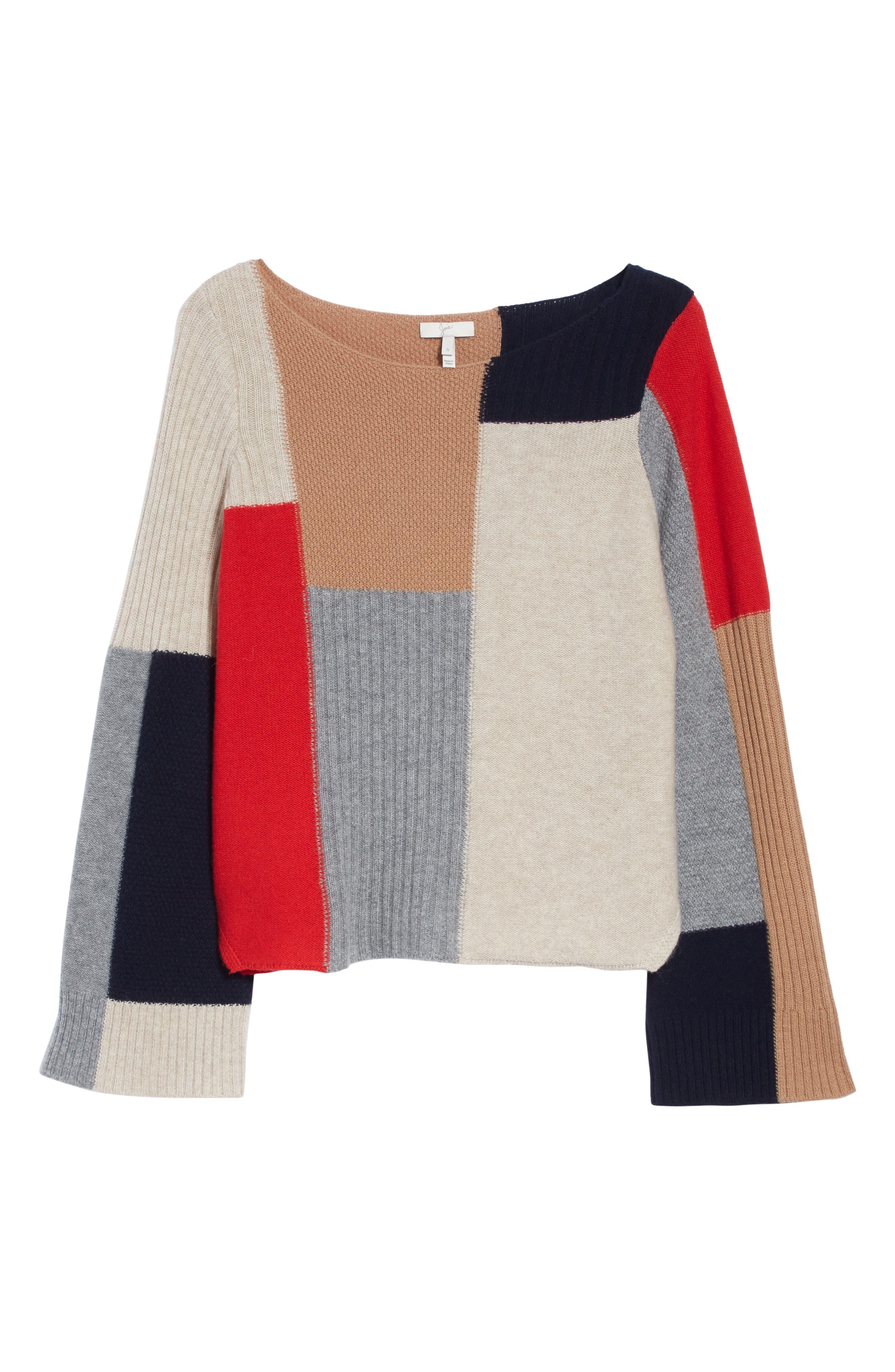Adene Wool & Cashmere Sweater,                             Alternate thumbnail 6, color,                             641