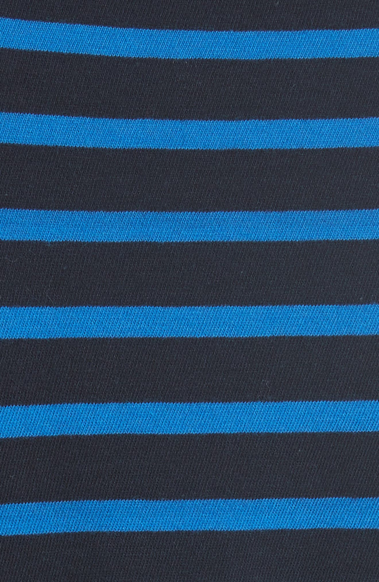 The Modern Long Stripe Cotton Tee,                             Alternate thumbnail 5, color,                             401