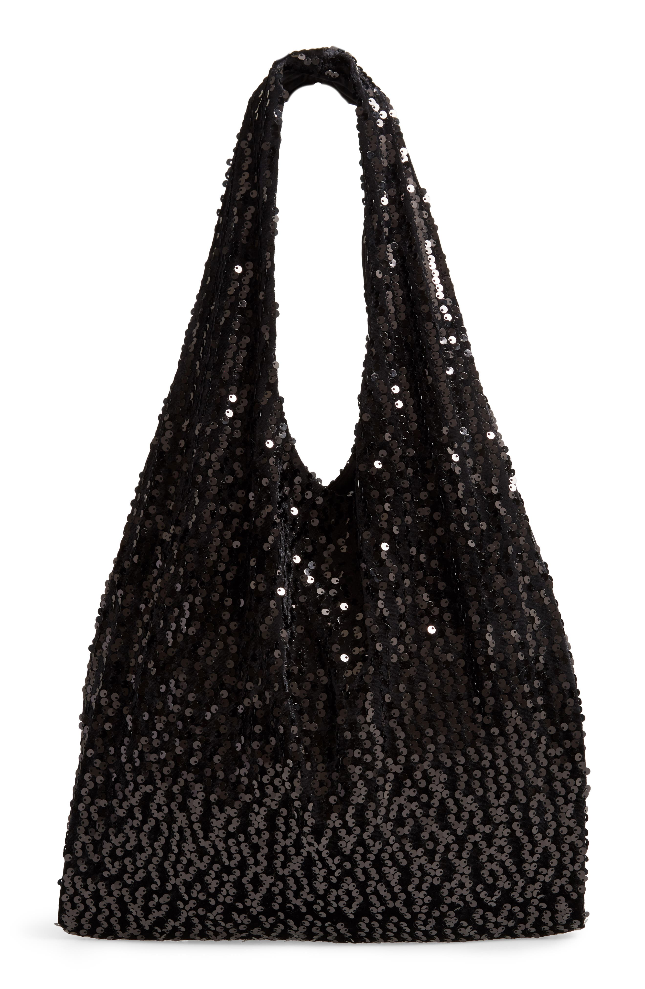 NEW FRIENDS COLONY Sequin Tote - Black