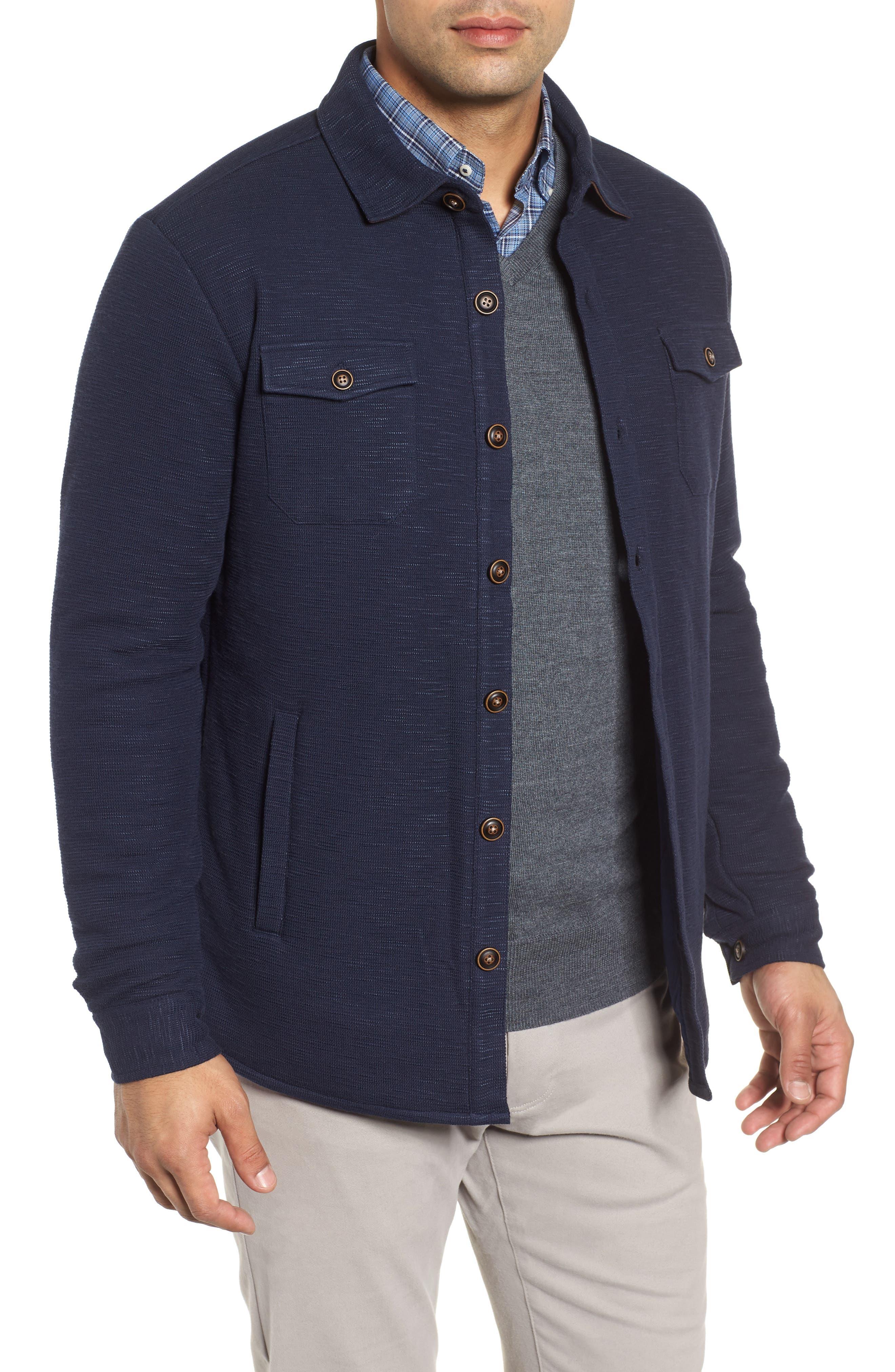 PETER MILLAR Mountainside Shirt Jacket, Main, color, ATLANTIC BLUE
