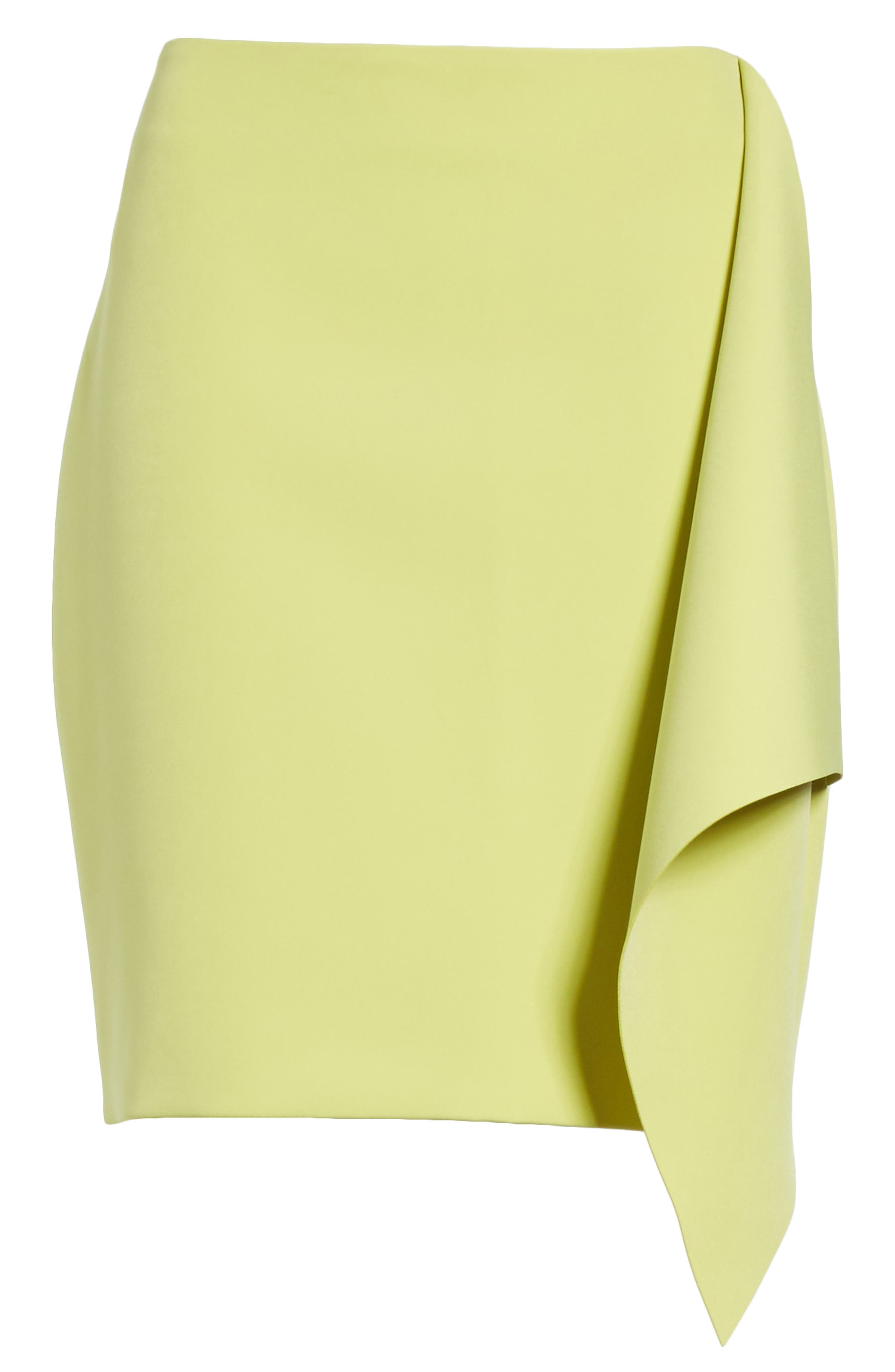 Asymmetrical Frill Pencil Skirt,                             Alternate thumbnail 6, color,                             303