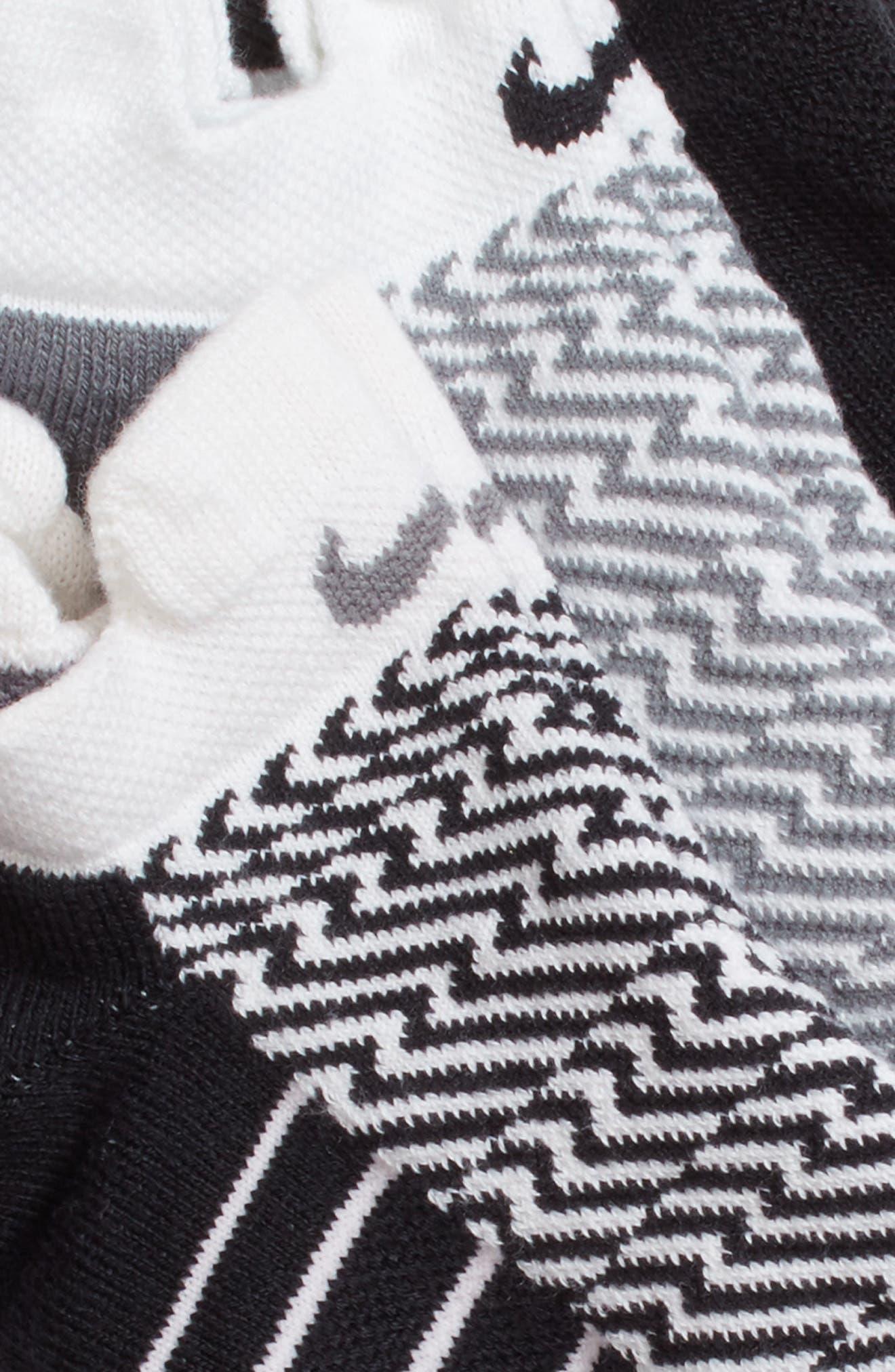Elite 3-Pack Reflective Running Tab Socks,                             Alternate thumbnail 5, color,