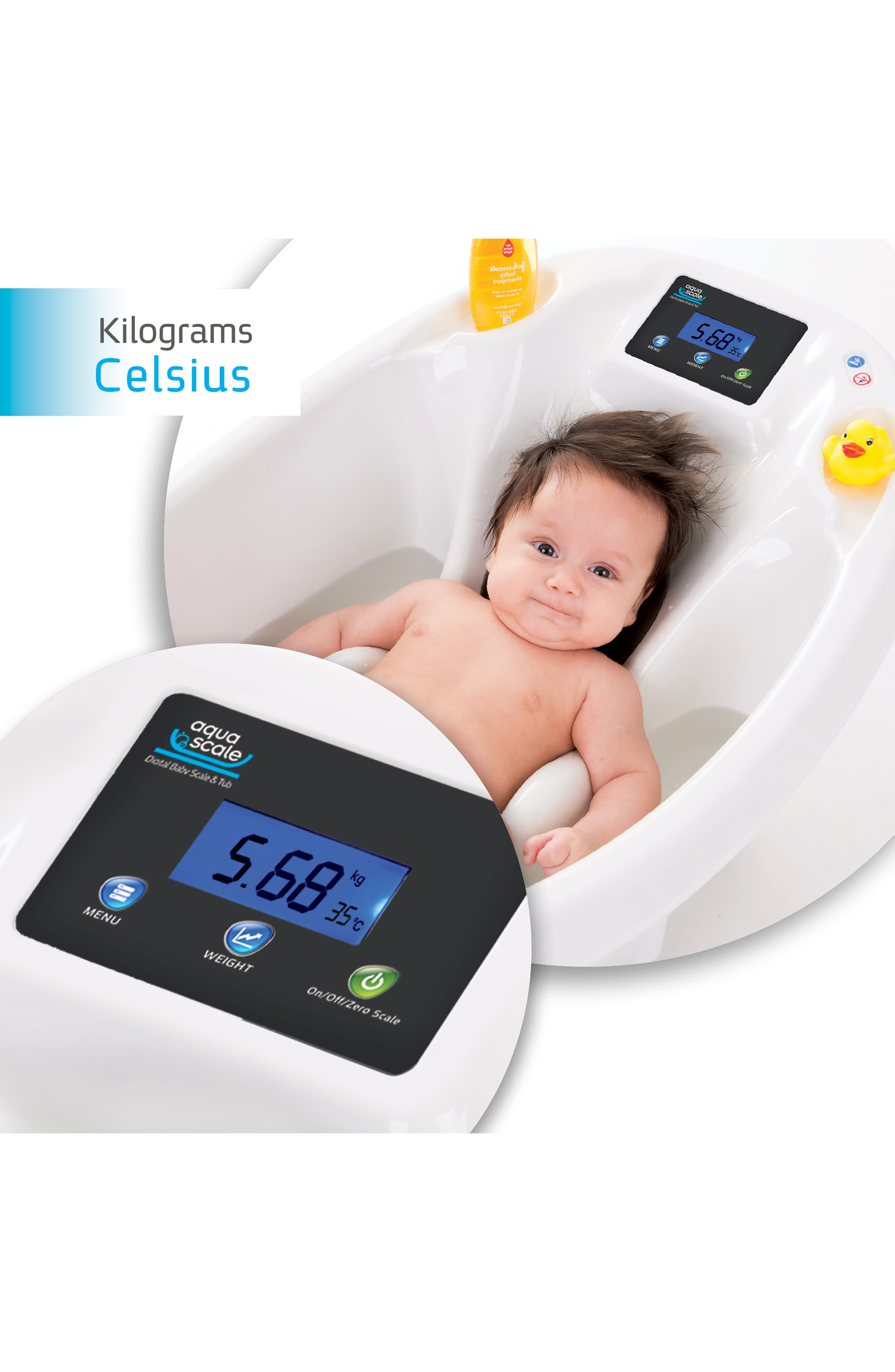 Aquascale 3-in-1 Baby Tub/Scale,                             Alternate thumbnail 2, color,                             WHITE