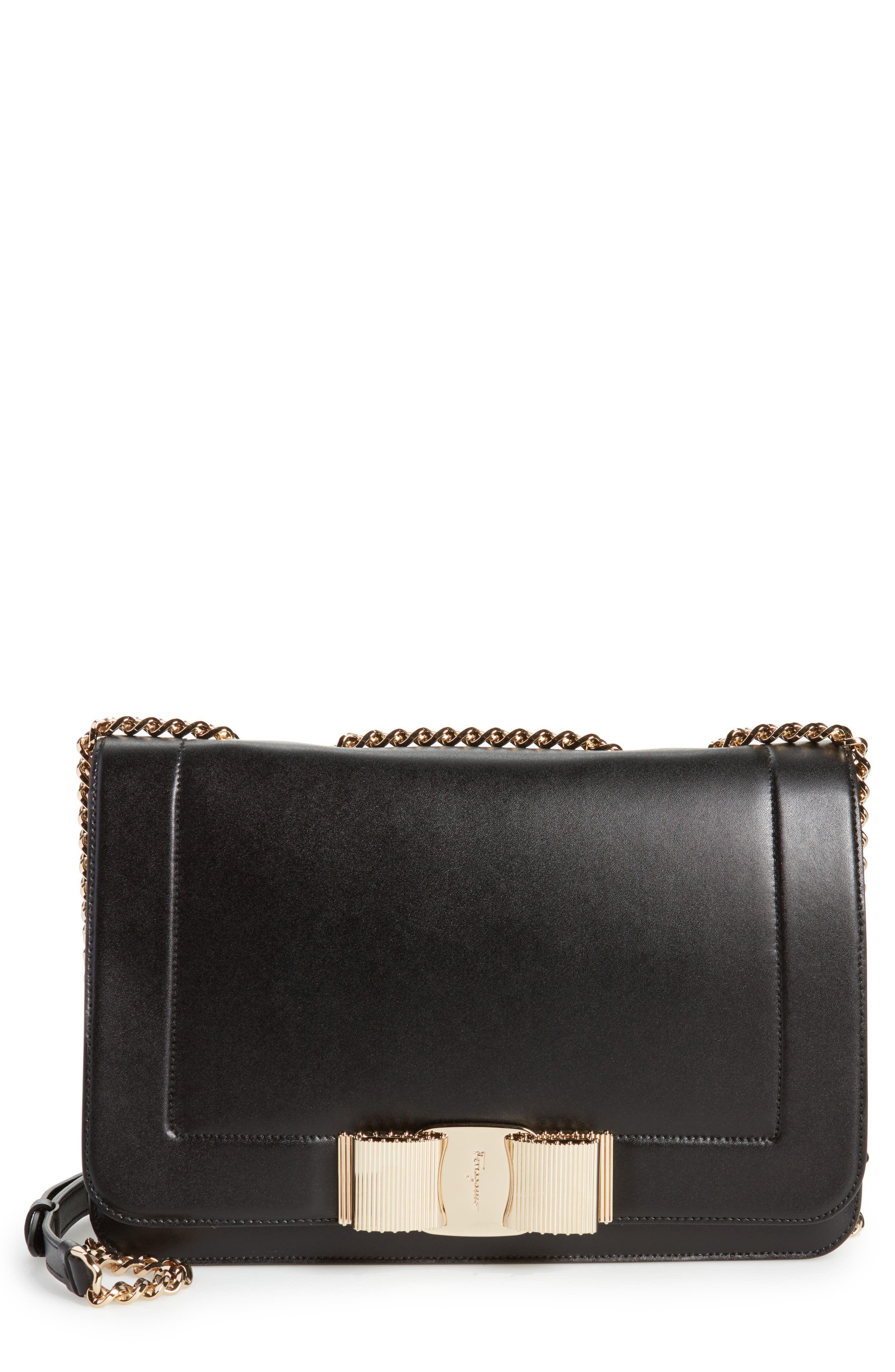 Vara Leather Shoulder Bag,                         Main,                         color,