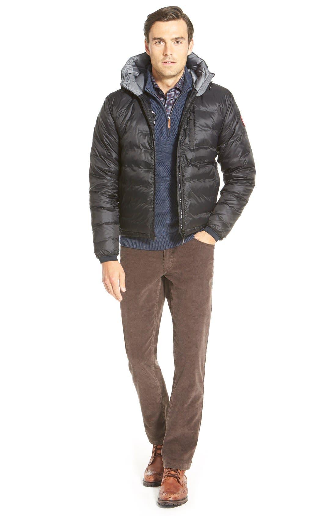 'Lodge' Slim Fit Packable Jacket,                             Alternate thumbnail 11, color,                             BLACK