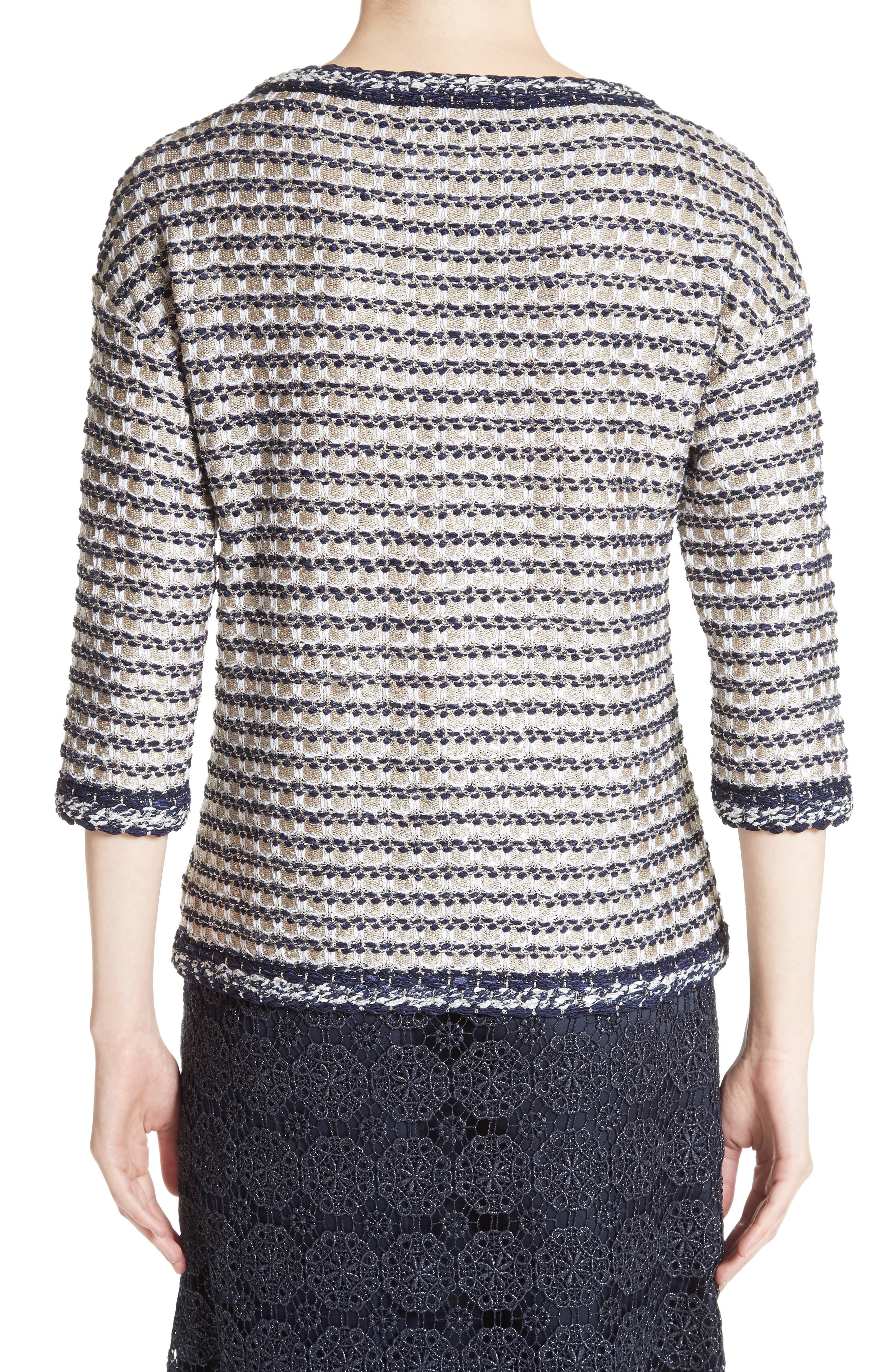 Vany Tweed Knit Top,                             Alternate thumbnail 2, color,                             040