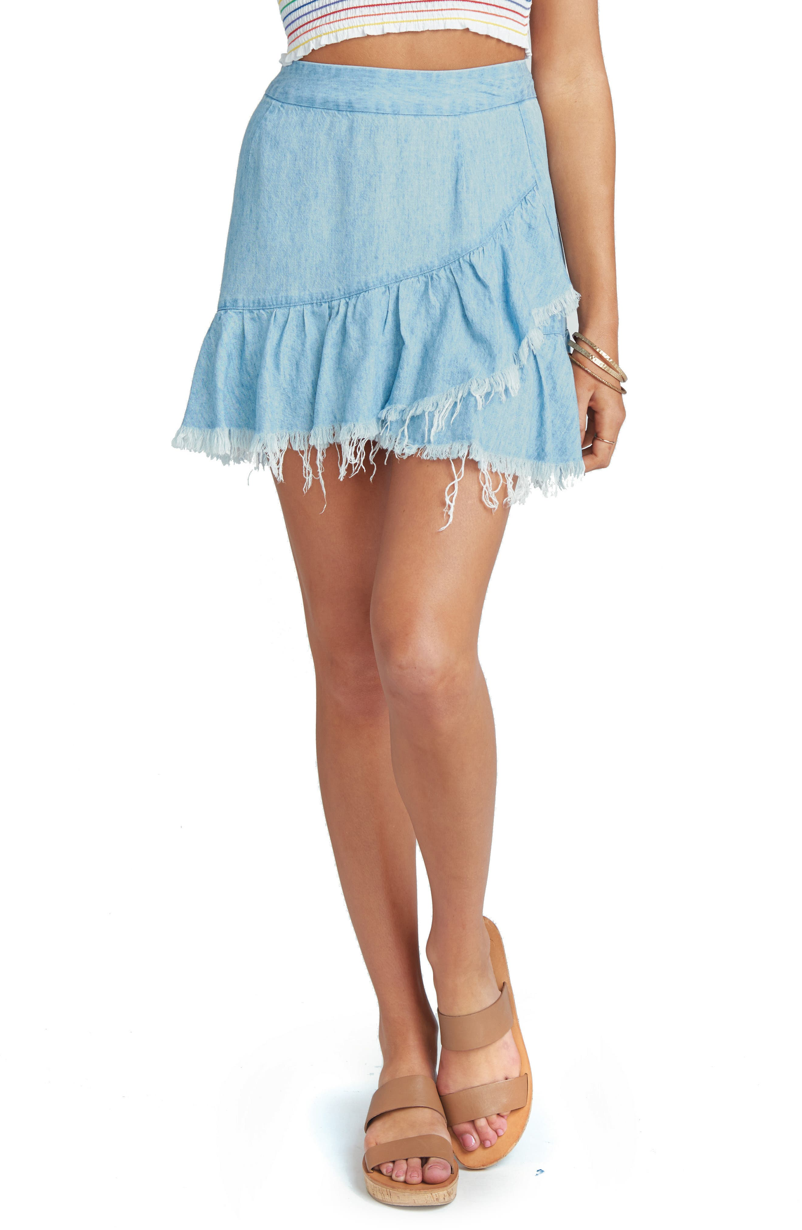 Sunset Chambray Skirt,                             Main thumbnail 1, color,                             400